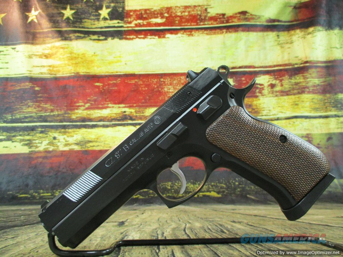 "CZ Model 97 B Wood Grips 45 acp NEW 4.8"" Manual Safety NEW (01401)  Guns > Pistols > CZ Pistols"