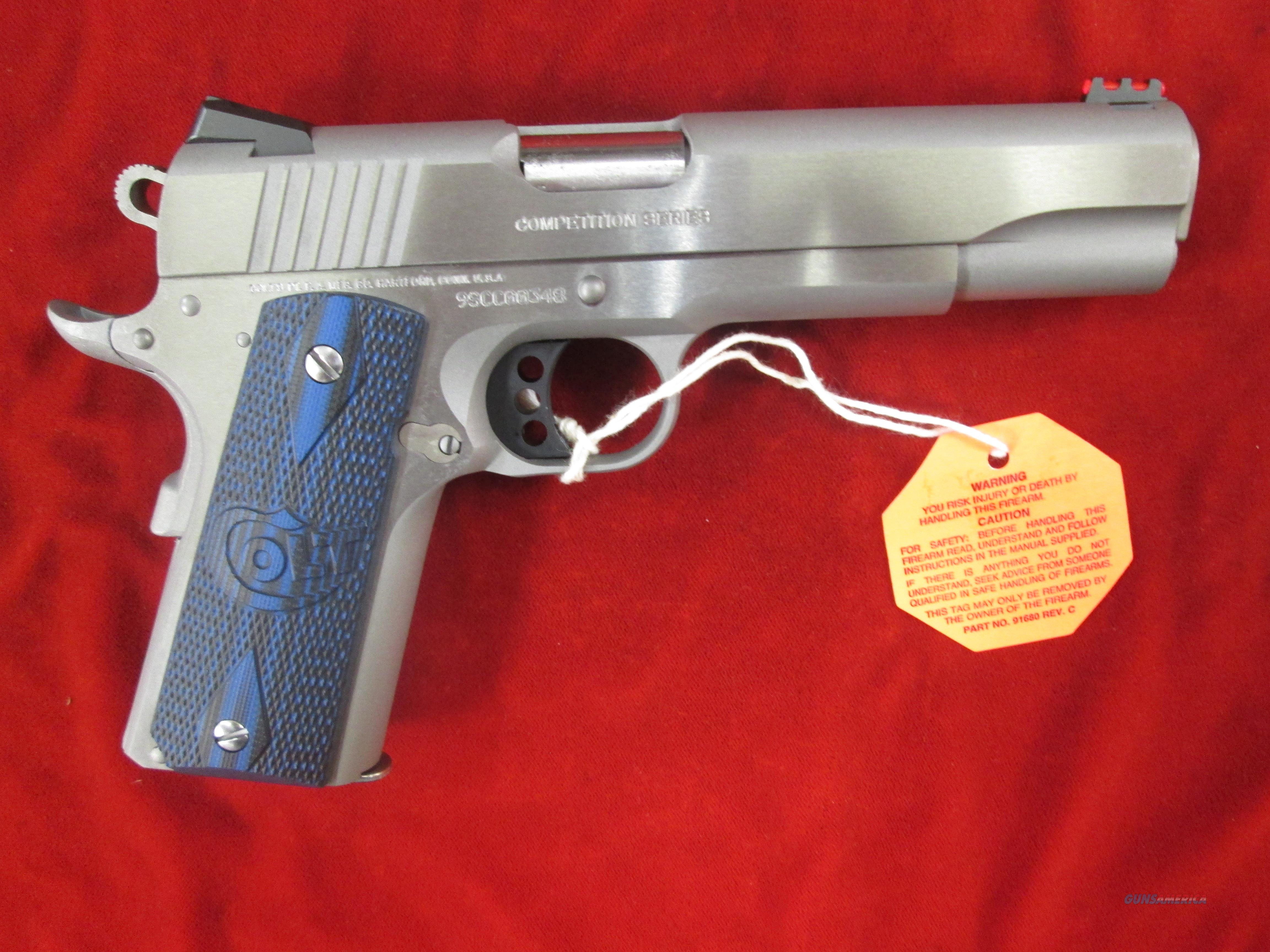 COLT COMPETITION PISTOL GOVERNMENT MODEL STAINLESS 9MM NEW (01082CCS)   Guns > Pistols > Colt Automatic Pistols (1911 & Var)