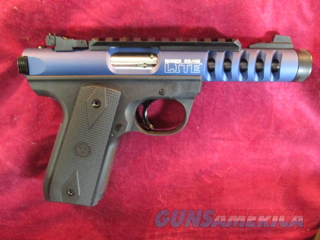 RUGER 22/45 LITE BLUE ANODIZED W/ THREADED BARREL NEW  Guns > Pistols > Ruger Semi-Auto Pistols > 22/45