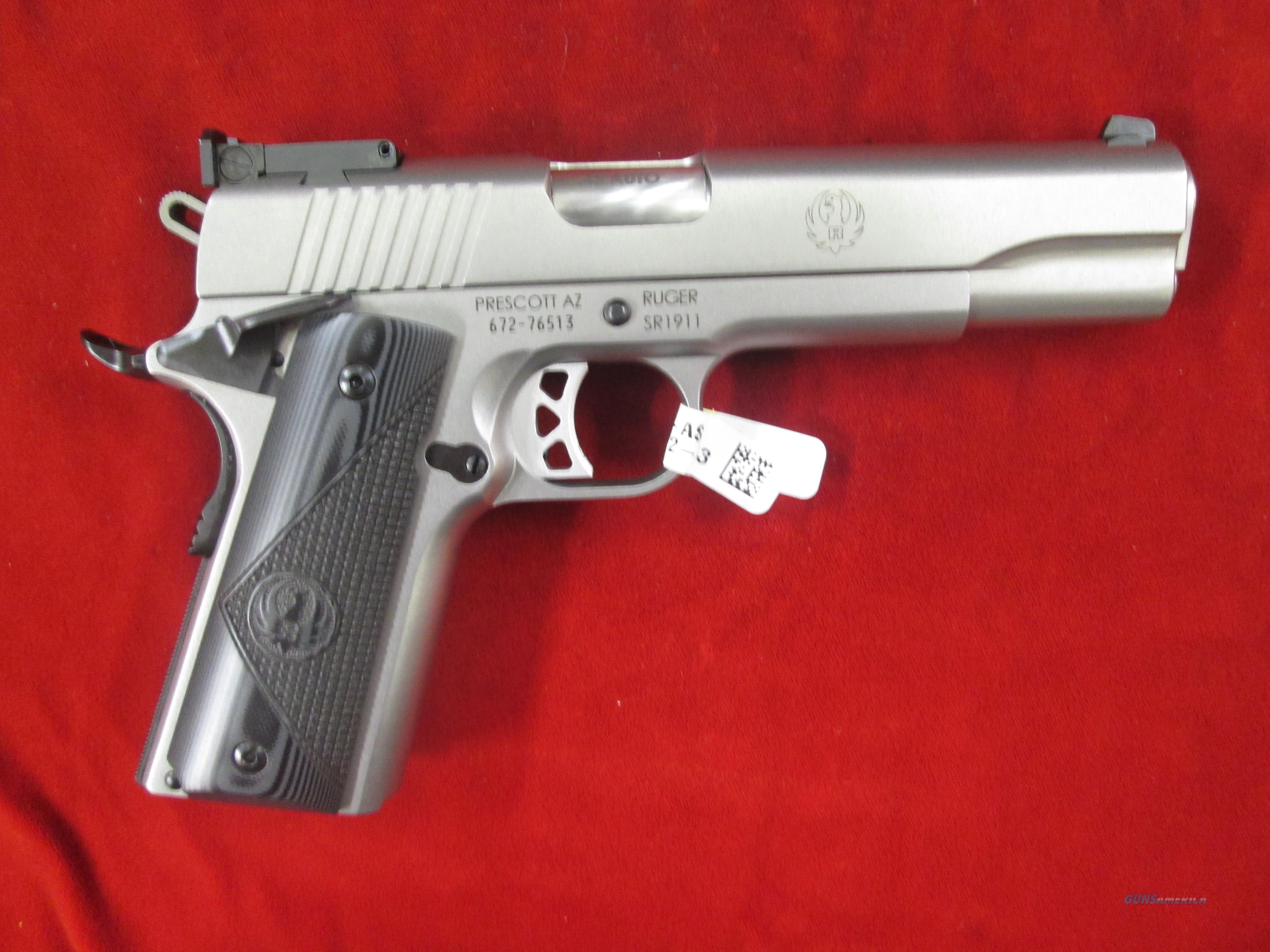 RUGER SR 1911 TARGET STAINLESS 45ACP  (06736)   Guns > Pistols > Ruger Semi-Auto Pistols > 1911
