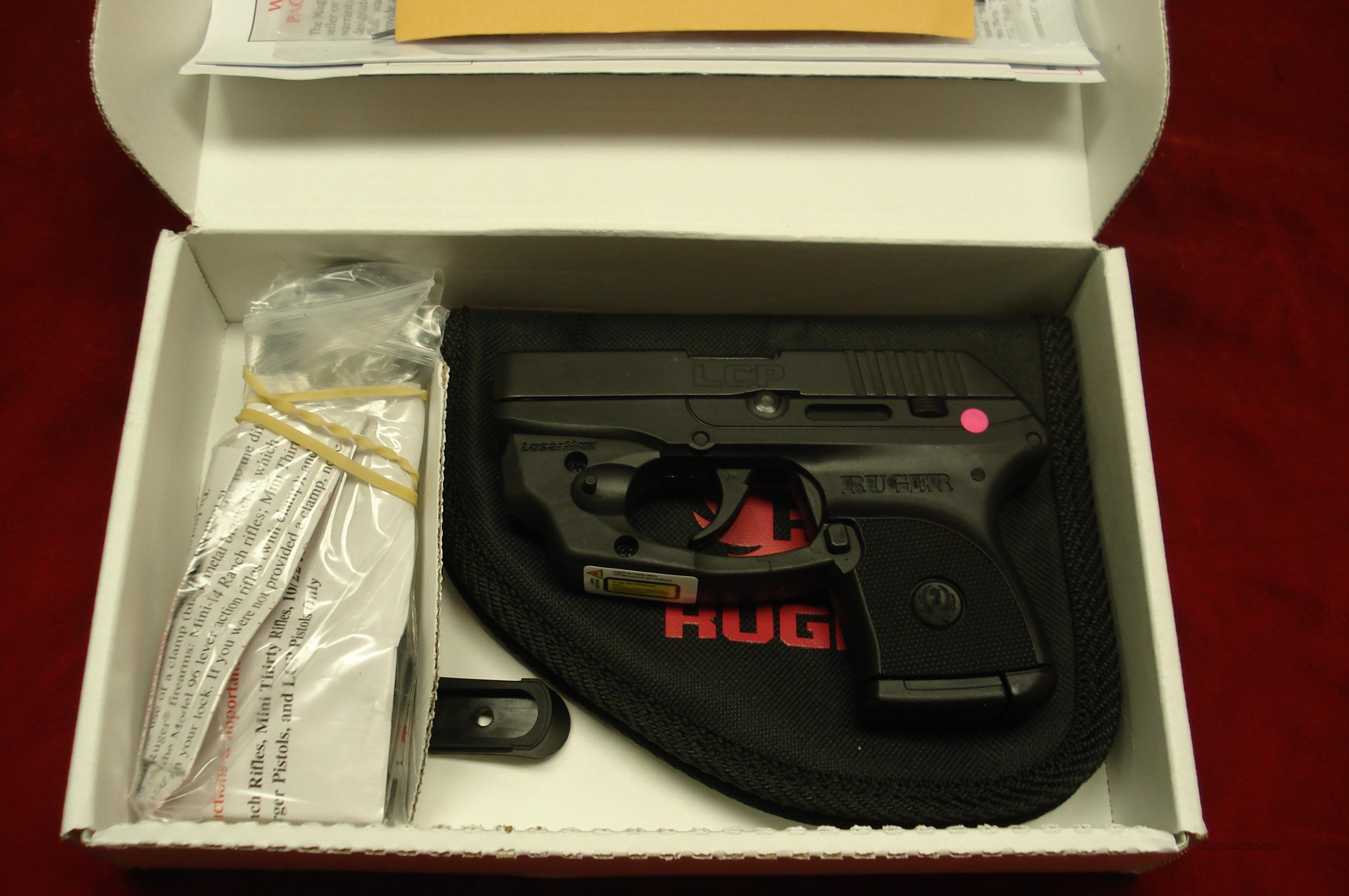 RUGER LCP (Lightweight Compact Pistol) 380CAL. WITH FACTORY INSTALLED LASER NEW  Guns > Pistols > Ruger Semi-Auto Pistols > LCP