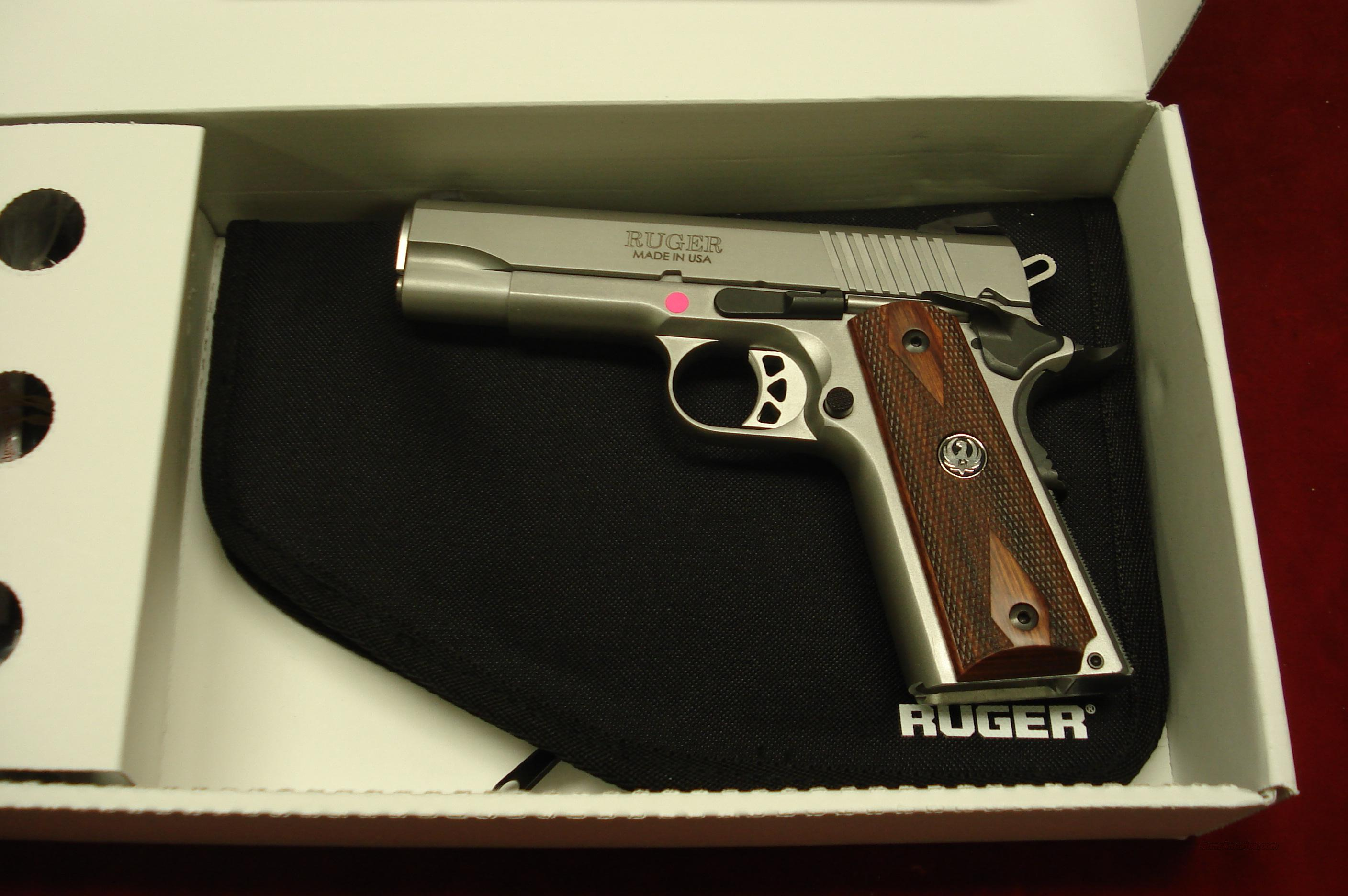 RUGER SR1911 COMMANDER STAINLESS 45ACP NEW (06702)  Guns > Pistols > Ruger Semi-Auto Pistols > SR Family