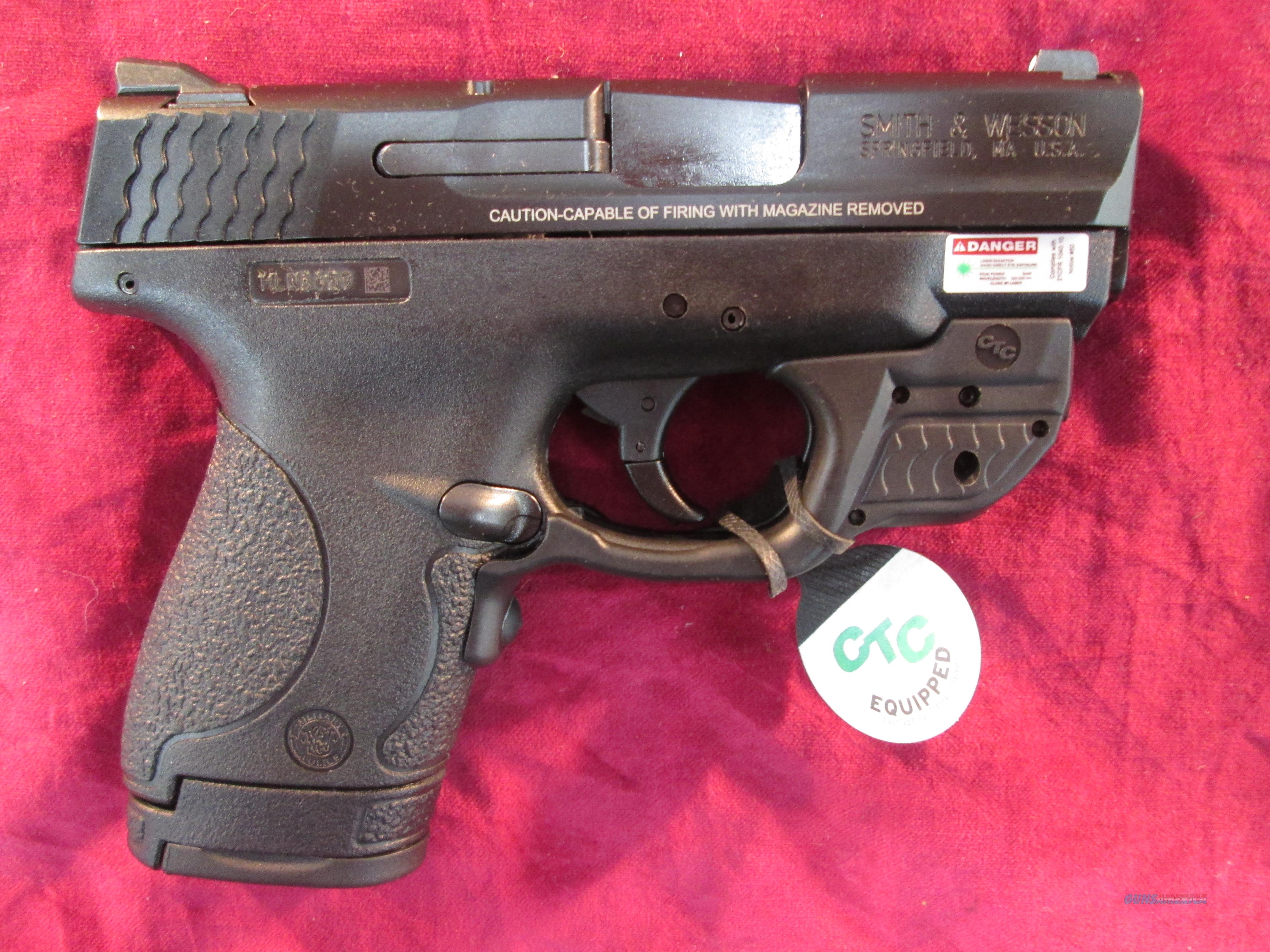 SMITH AND WESSON M&P SHEILD 9MM W/ CRIMSON TRACE GREEN LASER NEW  (10141)  {{ FACTORY MAIL IN REBATE OFFER }}   Guns > Pistols > Smith & Wesson Pistols - Autos > Alloy Frame