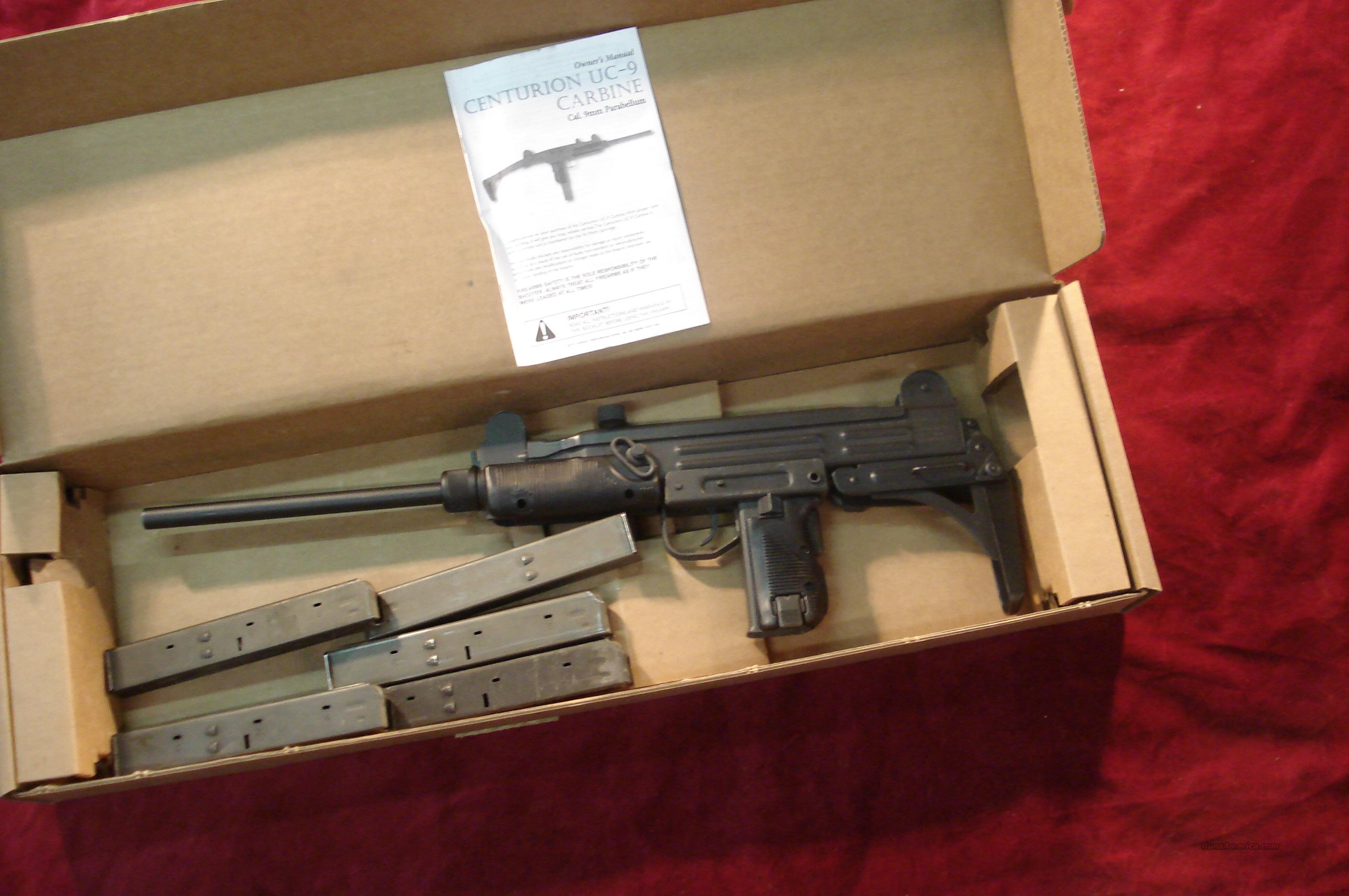 CENTURY INT'L UC-9 9MM UZI CARBINE NEW  Guns > Rifles > Century Arms International (CAI) - Rifles > Rifles