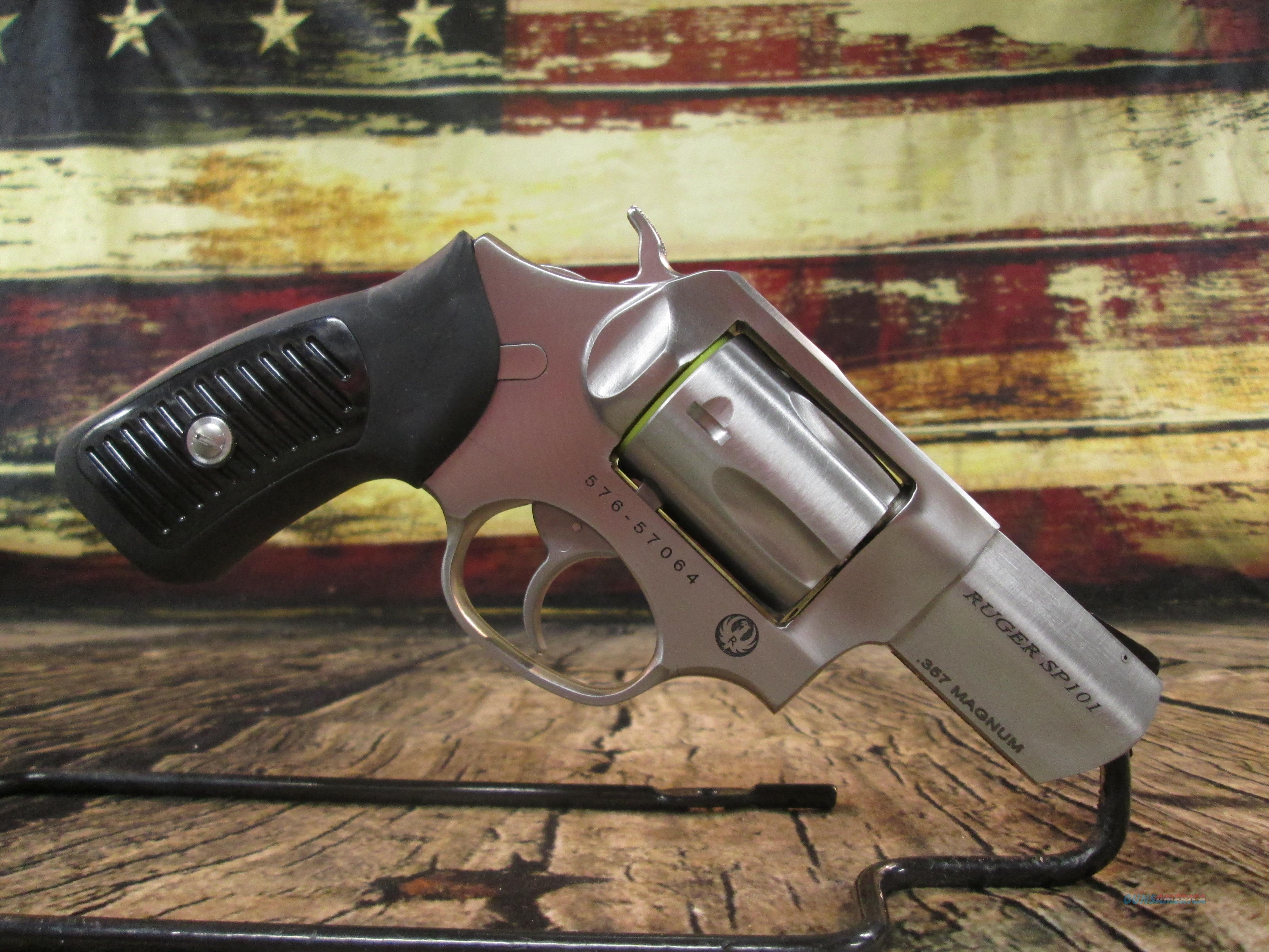 Ruger SP101 Stainless 357 Mag NEW (05718)  Guns > Pistols > Ruger Double Action Revolver > SP101 Type