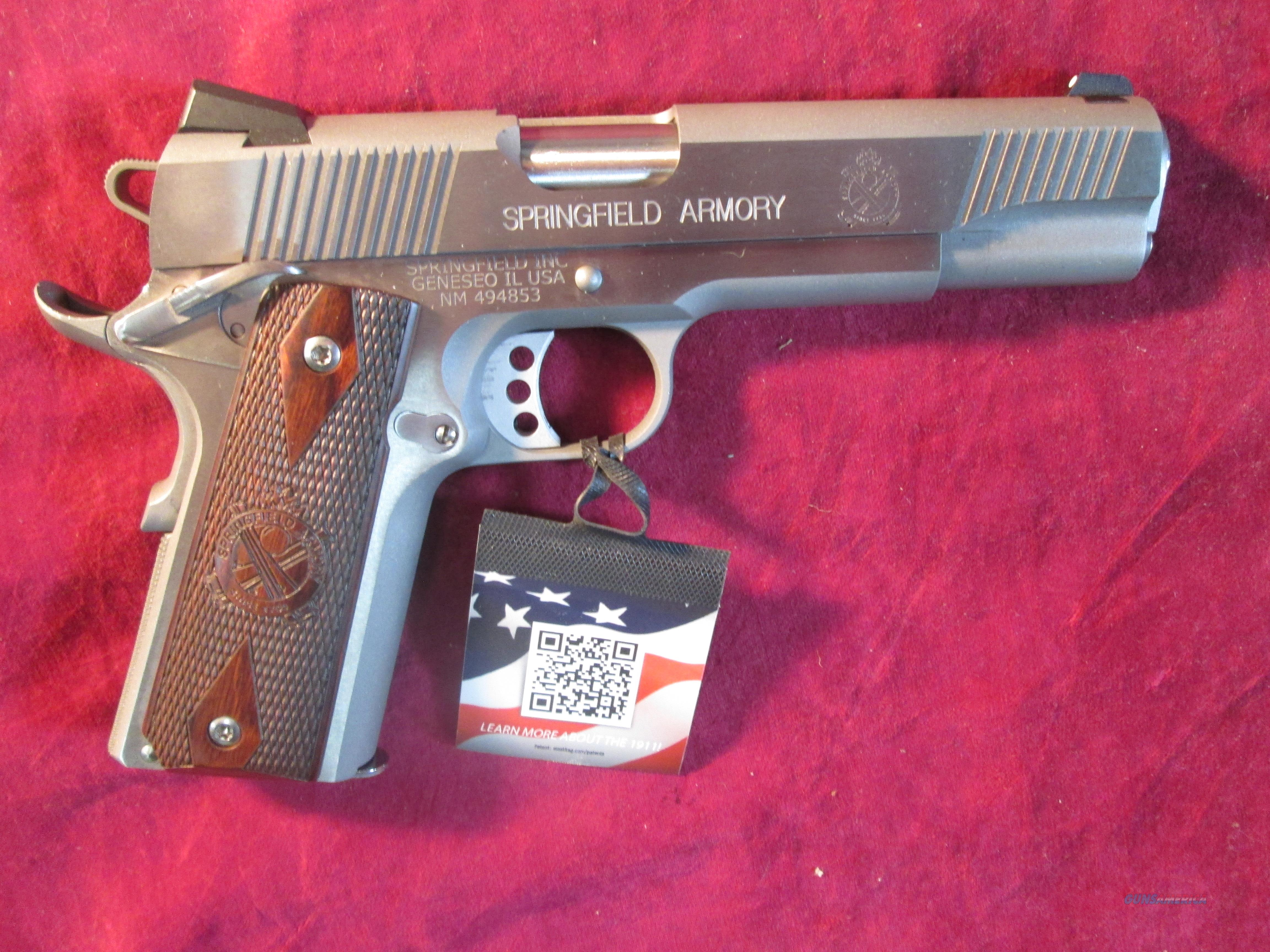 SPRINGFIELD ARMORY 1911 LOADED STAINLESS 45ACP W/ 3 DOT SIGHTS NEW (PX9151L)  Guns > Pistols > Springfield Armory Pistols > 1911 Type