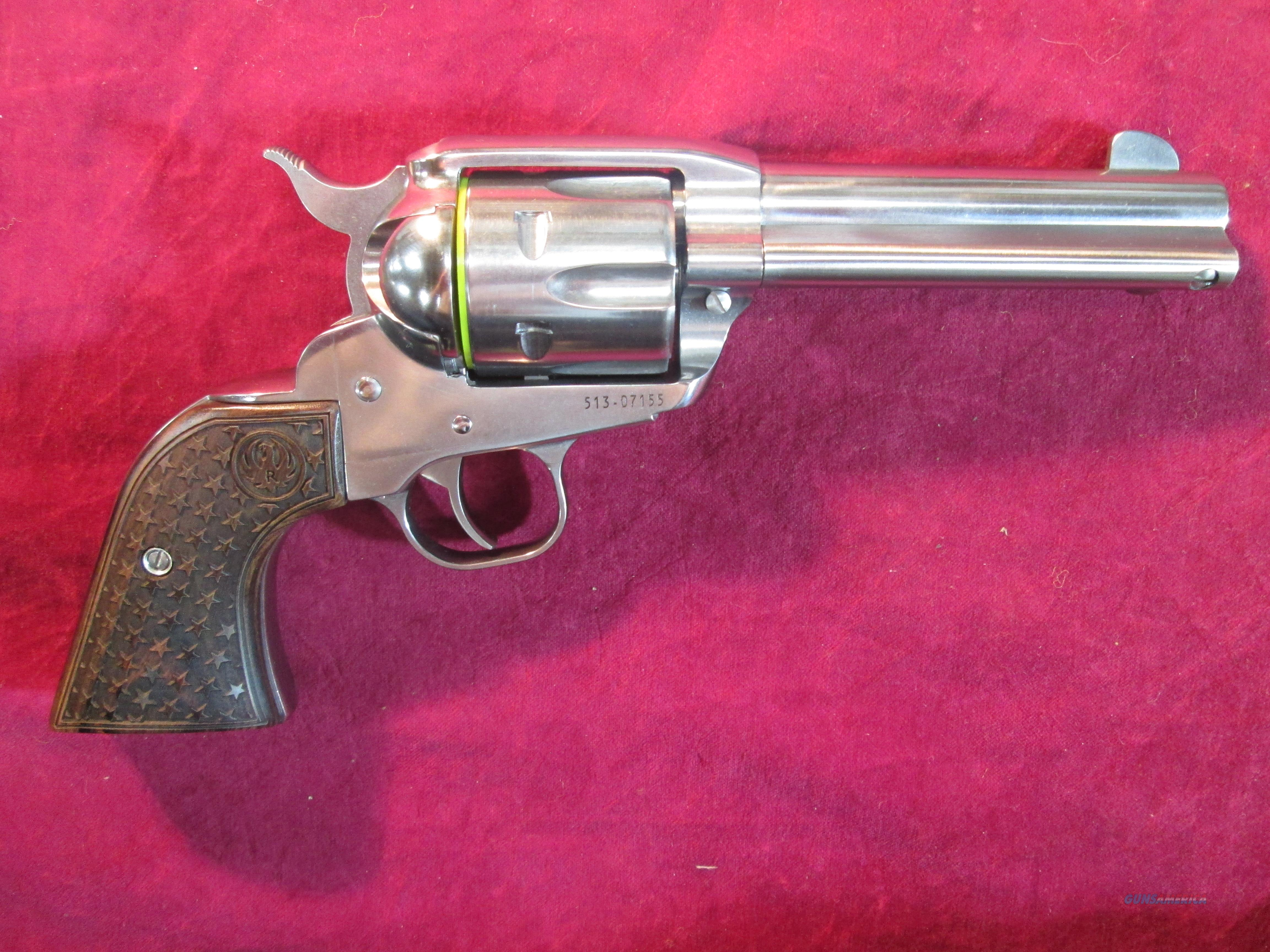 RUGER VAQUERO FAST DRAW .357 CAL STAINLESS NEW (05159)   Guns > Pistols > Ruger Single Action Revolvers > Cowboy Action