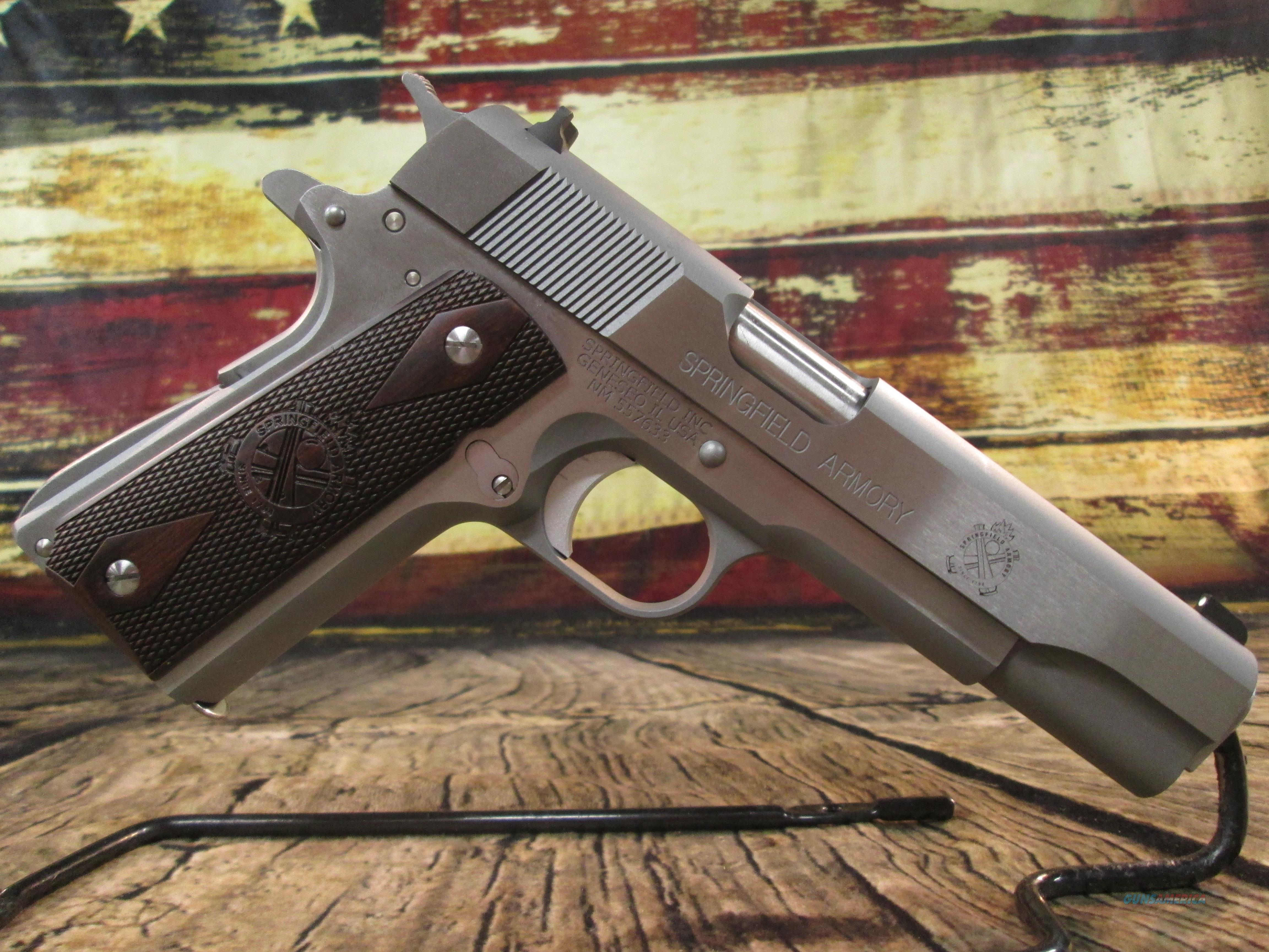 """Springfield Armory Milspec 1911A1 Stainless 45 ACP 5"""" New (PB9151L)  Guns > Pistols > Springfield Armory Pistols > 1911 Type"""
