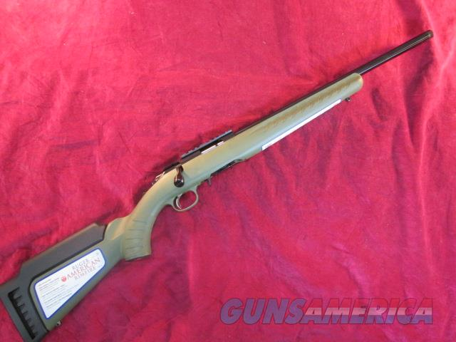 RUGER AMERICAN RIMFIRE THREADED BARREL 22MAG OD GREEN STOCK NEW   (08335)    Guns > Rifles > Ruger Rifles > American Rifle