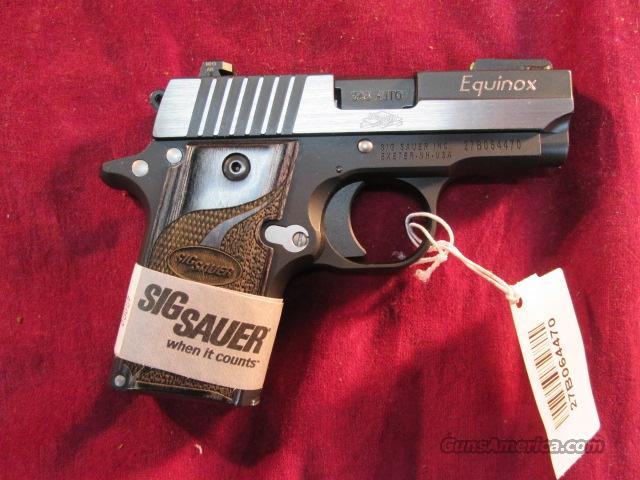 SIG SAUER P238 EQUINOX BLACKEN STAINLESS DUO-TONE 380CAL. W/NIGHT SIGHTS NEW   Guns > Pistols > Sig - Sauer/Sigarms Pistols > P228