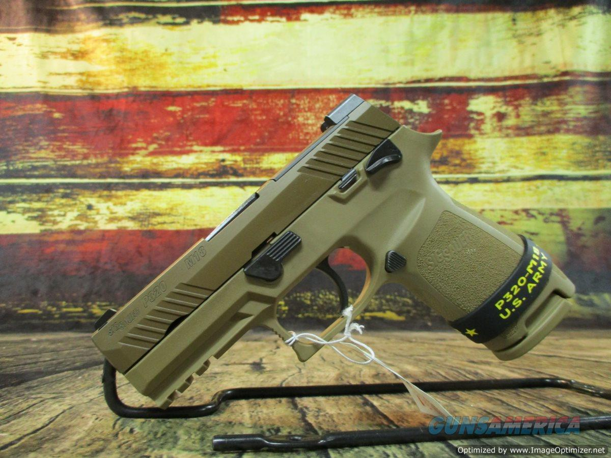 """Sig Sauer P320 Carry 3.9"""" Barrel M18 9mm Coyote Stainless 17+1,  (320CA9M18MS1M)  Guns > Pistols > Sig - Sauer/Sigarms Pistols > P320"""