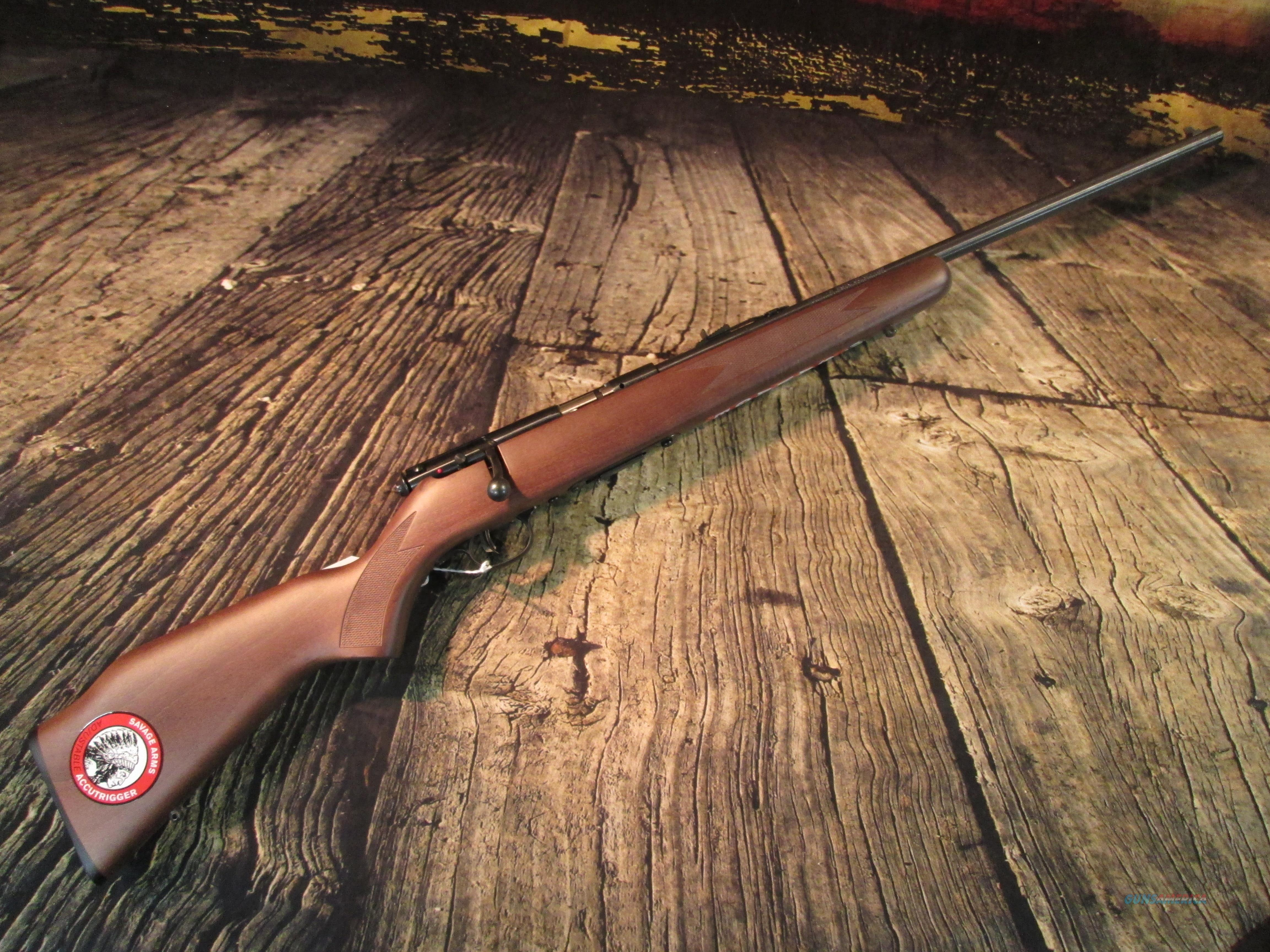 SAVAGE 93G W/ ACCUTRIGGER AND WOODEN STOCK .22 MAG NEW (90700)   Guns > Rifles > Savage Rifles > Rimfire