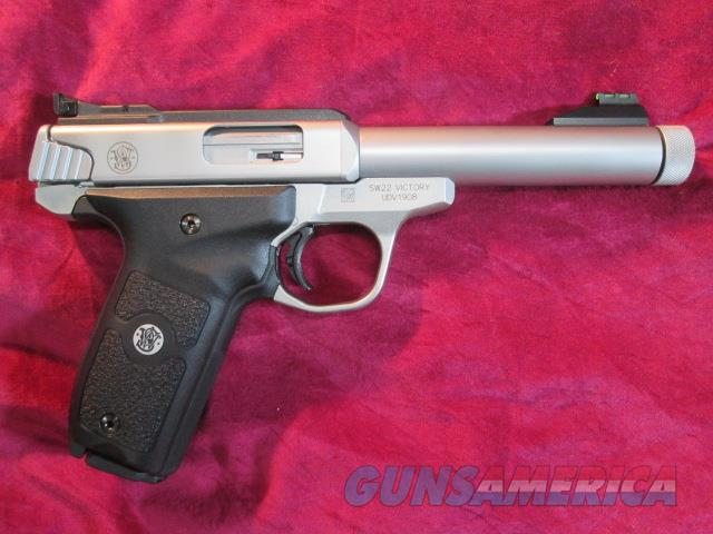 SMITH AND WESSON VICTORY 22LR SEMI AUTO PISTOL W/ THREADED BARREL NEW  (10201)   Guns > Pistols > Smith & Wesson Pistols - Autos > Steel Frame