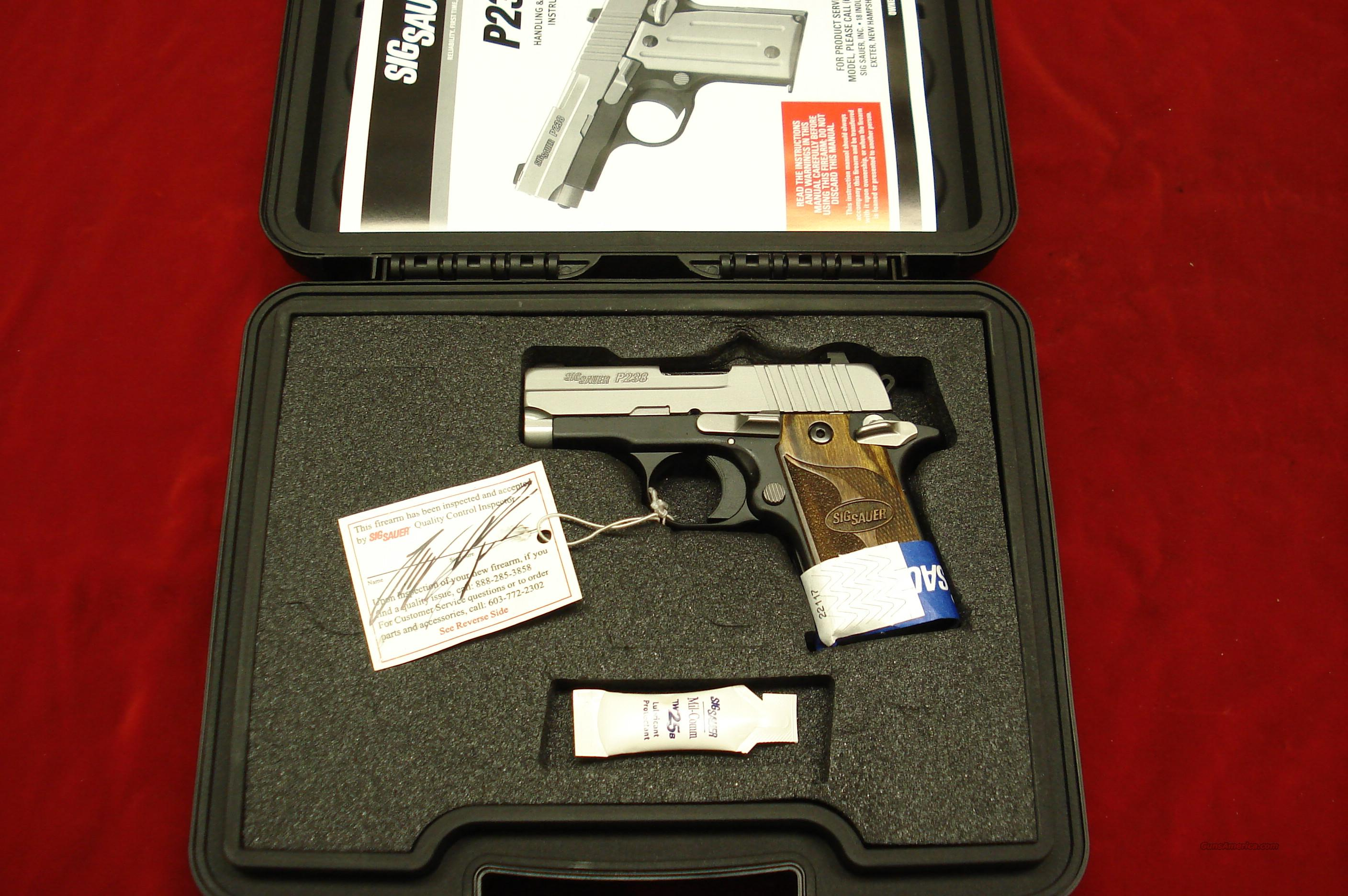 SIG SAUER P238 SAS STAINLESS DUO-TONE 380CAL. W/NIGHT SIGHTS NEW   (238-380-SAS)   Guns > Pistols > Sig - Sauer/Sigarms Pistols > Other