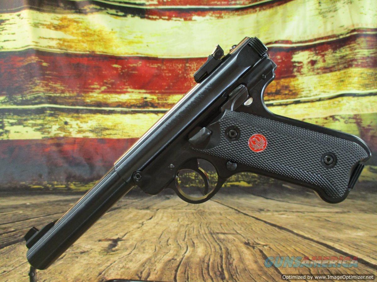 "Ruger MKIV Target 22 LR Blued 5.5"" New (40101)  Guns > Pistols > Ruger Semi-Auto Pistols > Mark I/II/III/IV Family"