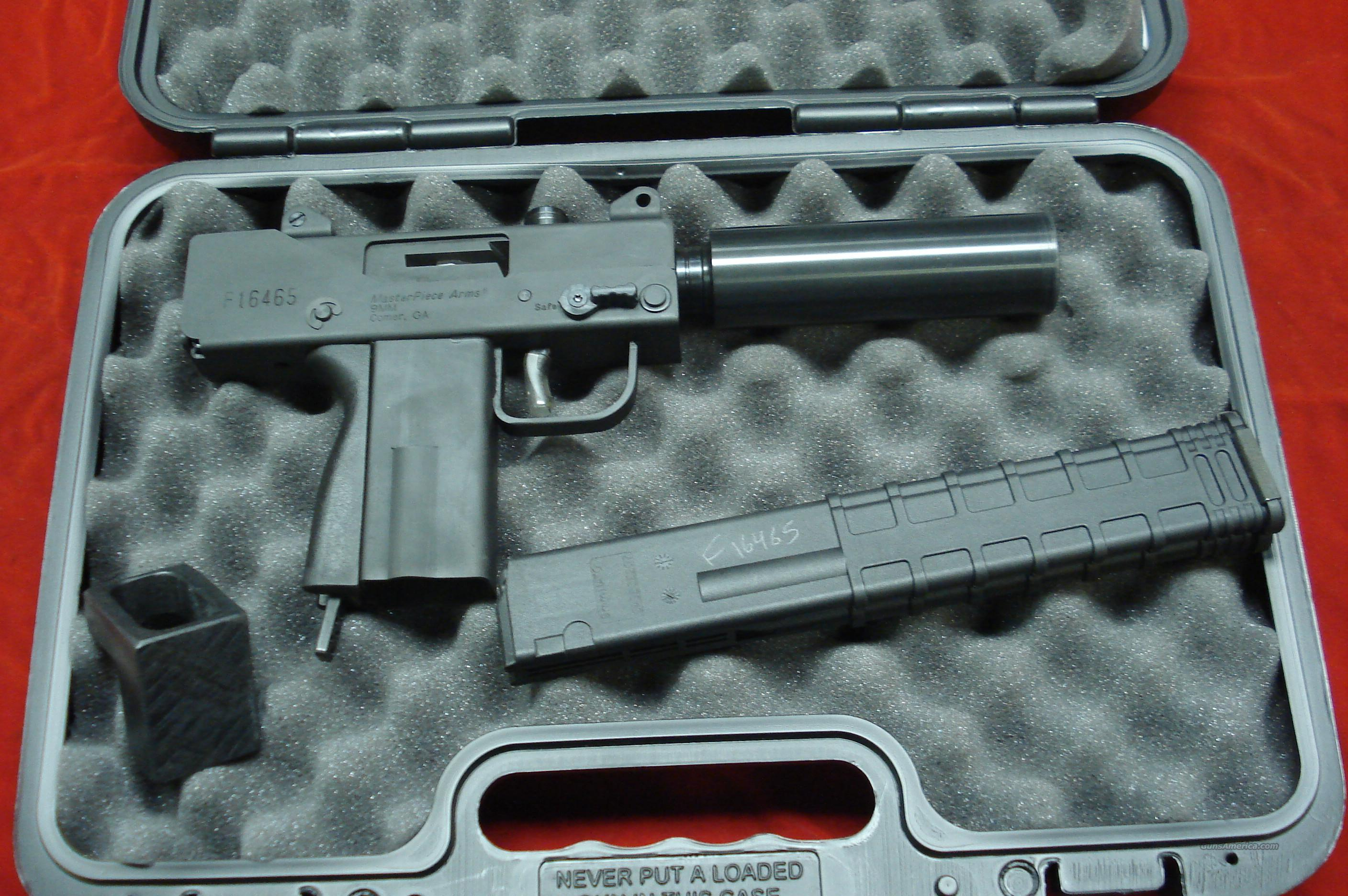 Masterpiece Arms Defender 9mm Side Cocking: For Sale