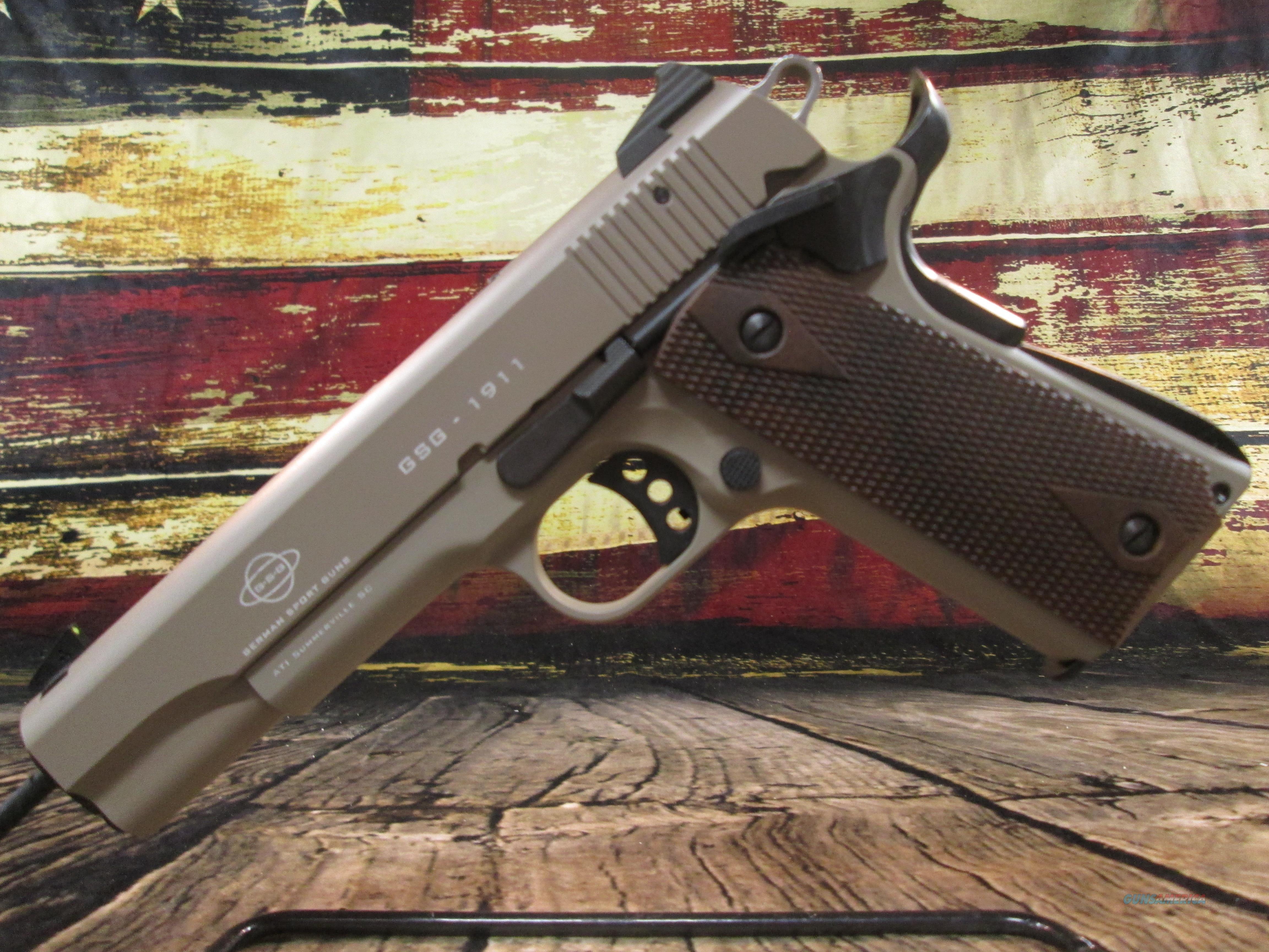 GSG 1911-22 Tan 22lr NEW (2210M1911T)  Guns > Pistols > 1911 Pistol Copies (non-Colt)