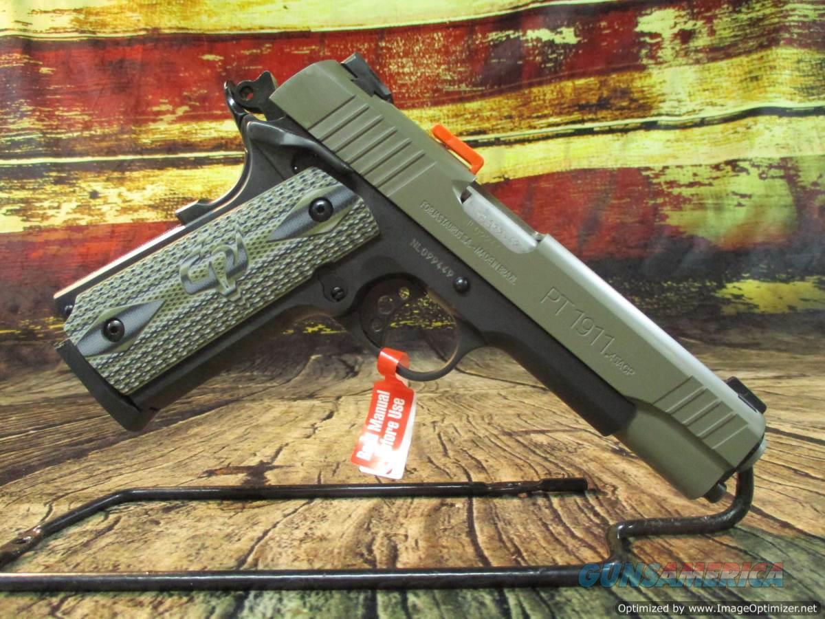 Taurus 45 ACP 1911 Sand Cerakote Slide New (1-191101S-VZ)  Guns > Pistols > Taurus Pistols > Semi Auto Pistols > Steel Frame
