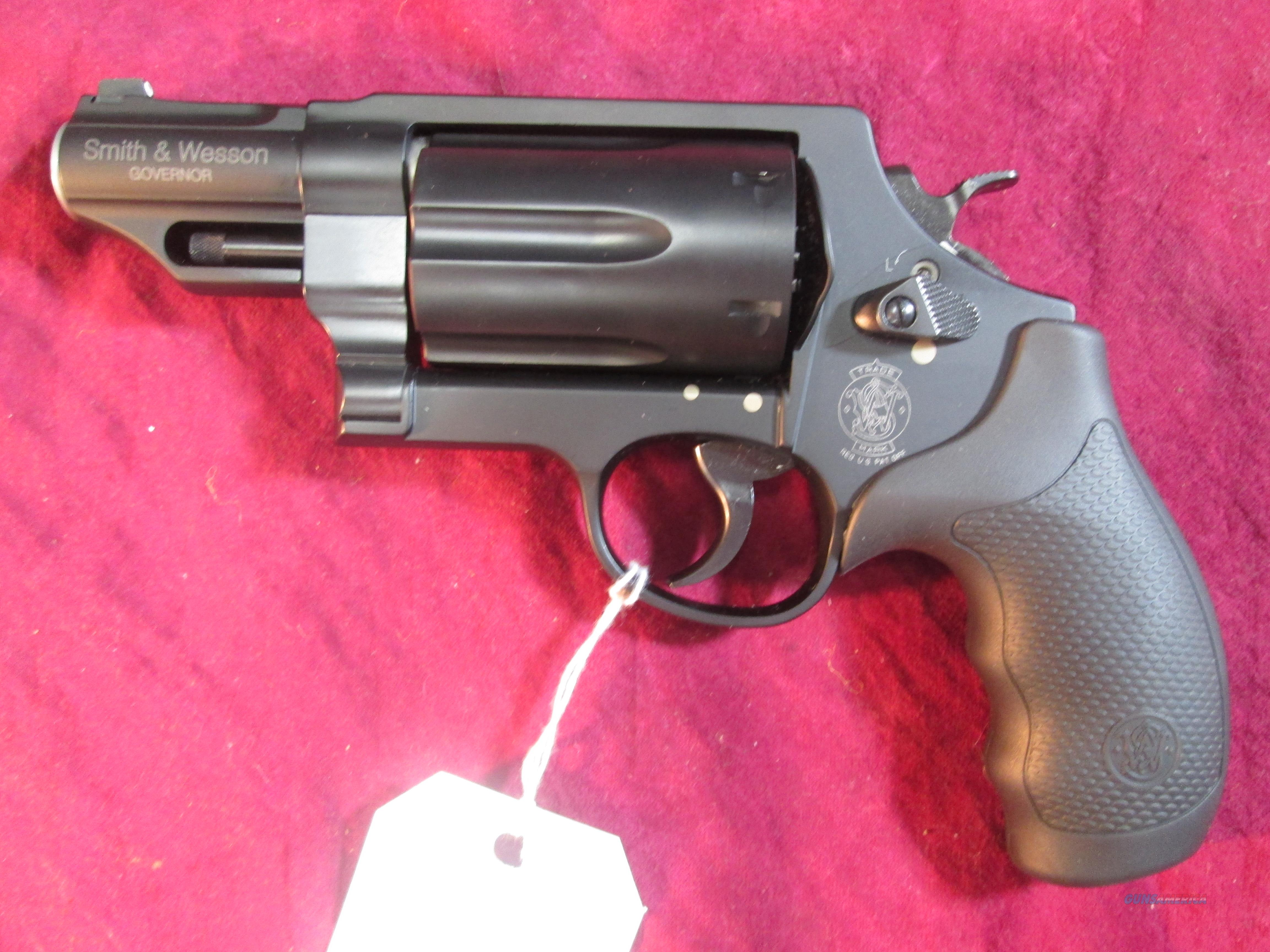 SMITH AND WESSON GOVERNOR BLACK,45COLT/45ACP/410G REVOLVER NEW (162410)  Guns > Pistols > Smith & Wesson Revolvers > Full Frame Revolver