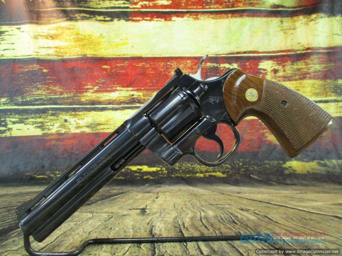 """Colt Python 357 Magnum 6"""" Blued 1979 Production (67415)  Guns > Pistols > Colt Double Action Revolvers- Modern"""