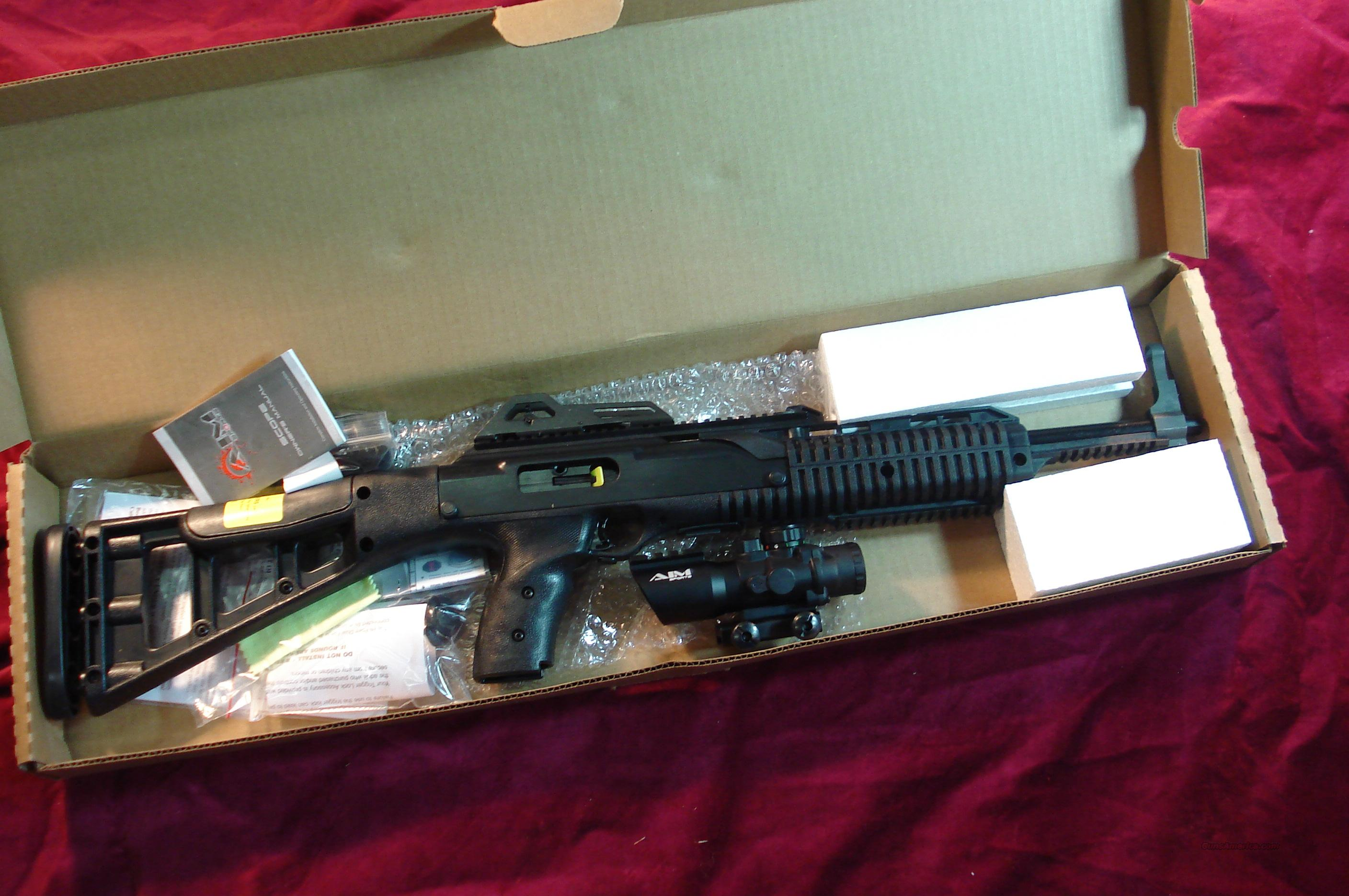 HI POINT 995 TACTICAL 9MM CARBINE W/4X TACTICAL SCOPE NEW  Guns > Rifles > Hi Point Rifles