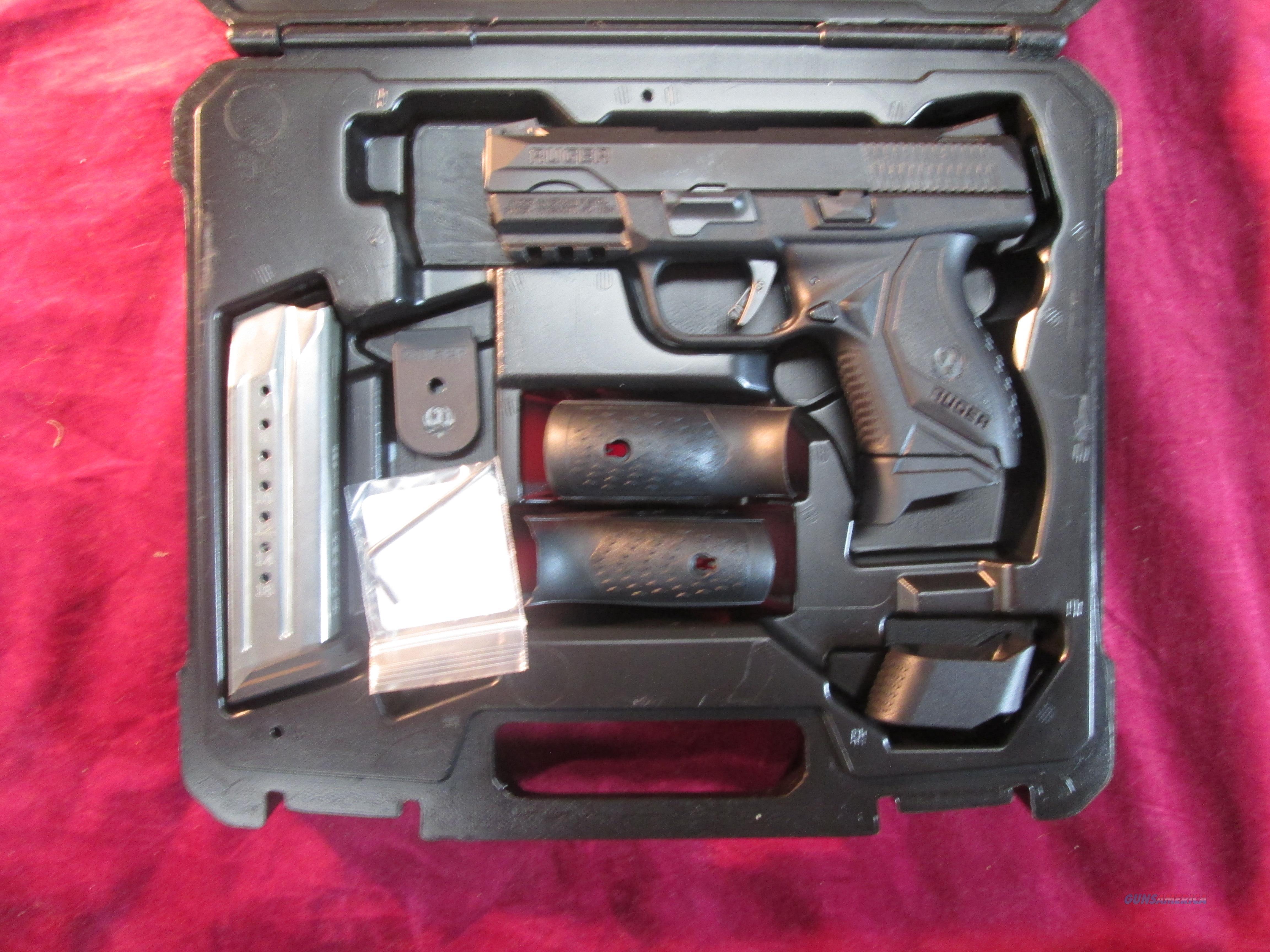 RUGER AMERICAN COMPACT PISTOL 9MM BLACK NITRIDE NEW (08635)   Guns > Pistols > Ruger Semi-Auto Pistols > American Pistols