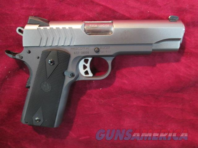 RUGER STAINLESS SR-1911 9MM COMMANDER ALLOY FRAME NEW   (06722)    Guns > Pistols > Ruger Semi-Auto Pistols > 1911