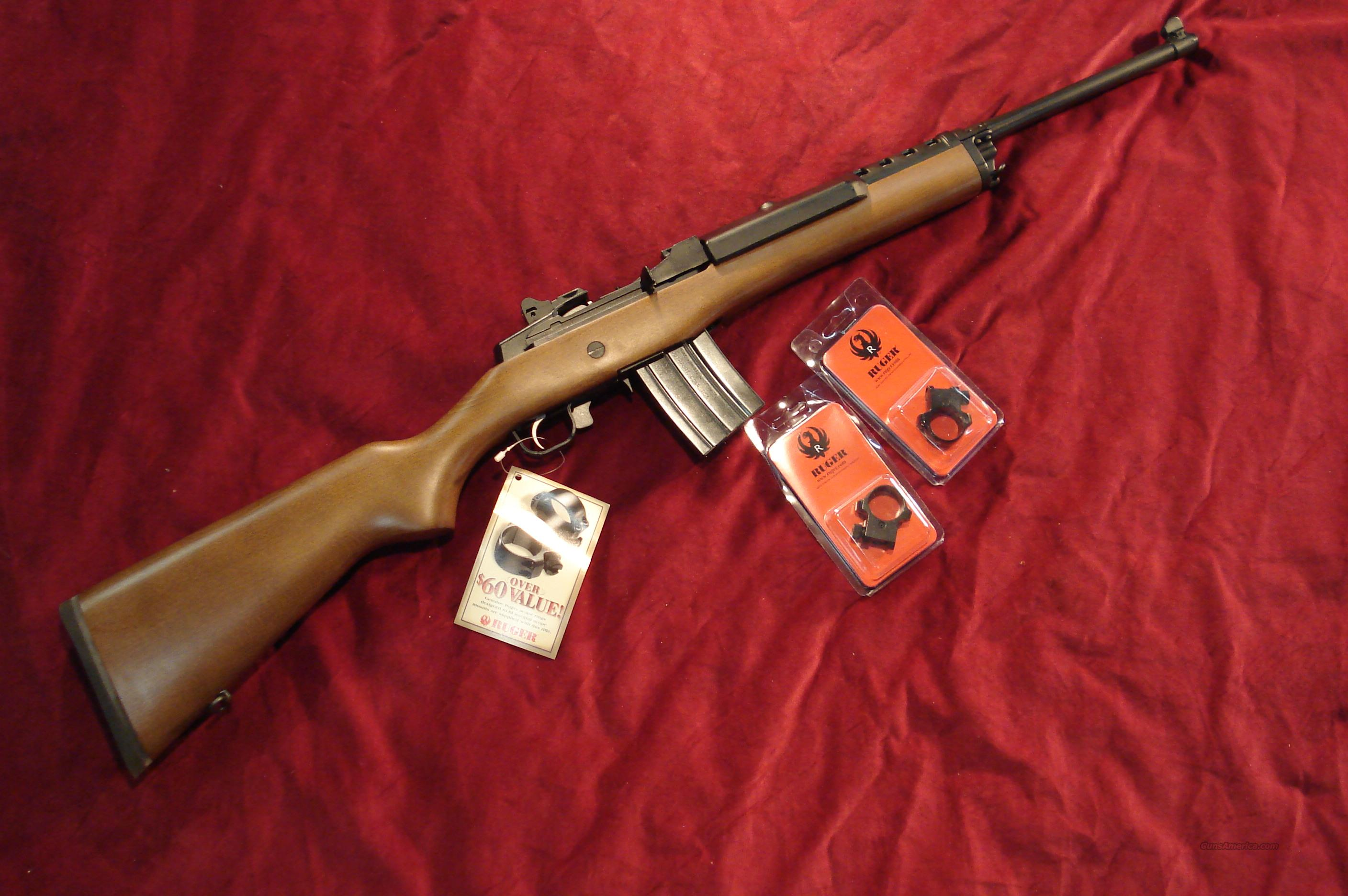 RUGER MINI 14 BLUE RANCH 20 ROUND NEW   (05816)  Guns > Rifles > Ruger Rifles > Mini-14 Type