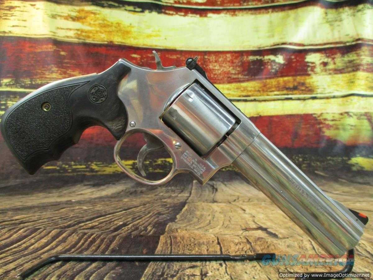 "Smith & Wesson 357 Mag Model 686 Plus Deluxe Stainless 5"" (150854)  Guns > Pistols > Smith & Wesson Revolvers > Med. Frame ( K/L )"