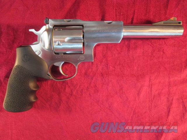"RUGER STAINLESS SUPER REDHAWK 44MAG 6.5"" W/ SCOPE RINGS NEW  (05519)   Guns > Pistols > Ruger Double Action Revolver > Redhawk Type"