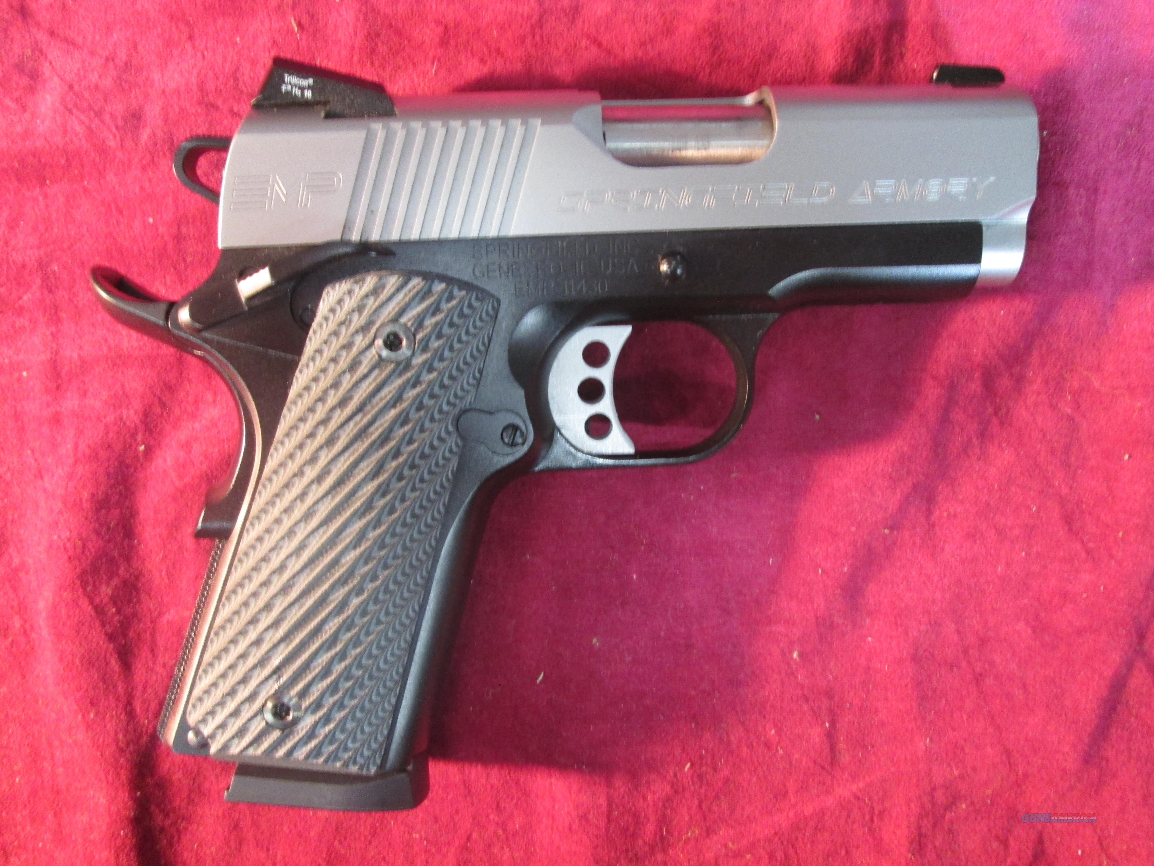 SPRINGFIELD ARMORY EMP MICRO-COMP. 40CAL WITH G10 GRIPS USED  Guns > Pistols > Springfield Armory Pistols > 1911 Type