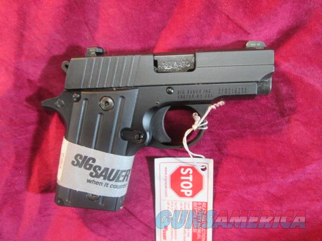 SIG SAUER P238 380CAL. NIGHT SIGHTS AND FLUTED BLACK GRIPS NEW   (238-380-BSS)     Guns > Pistols > Sig - Sauer/Sigarms Pistols > Other