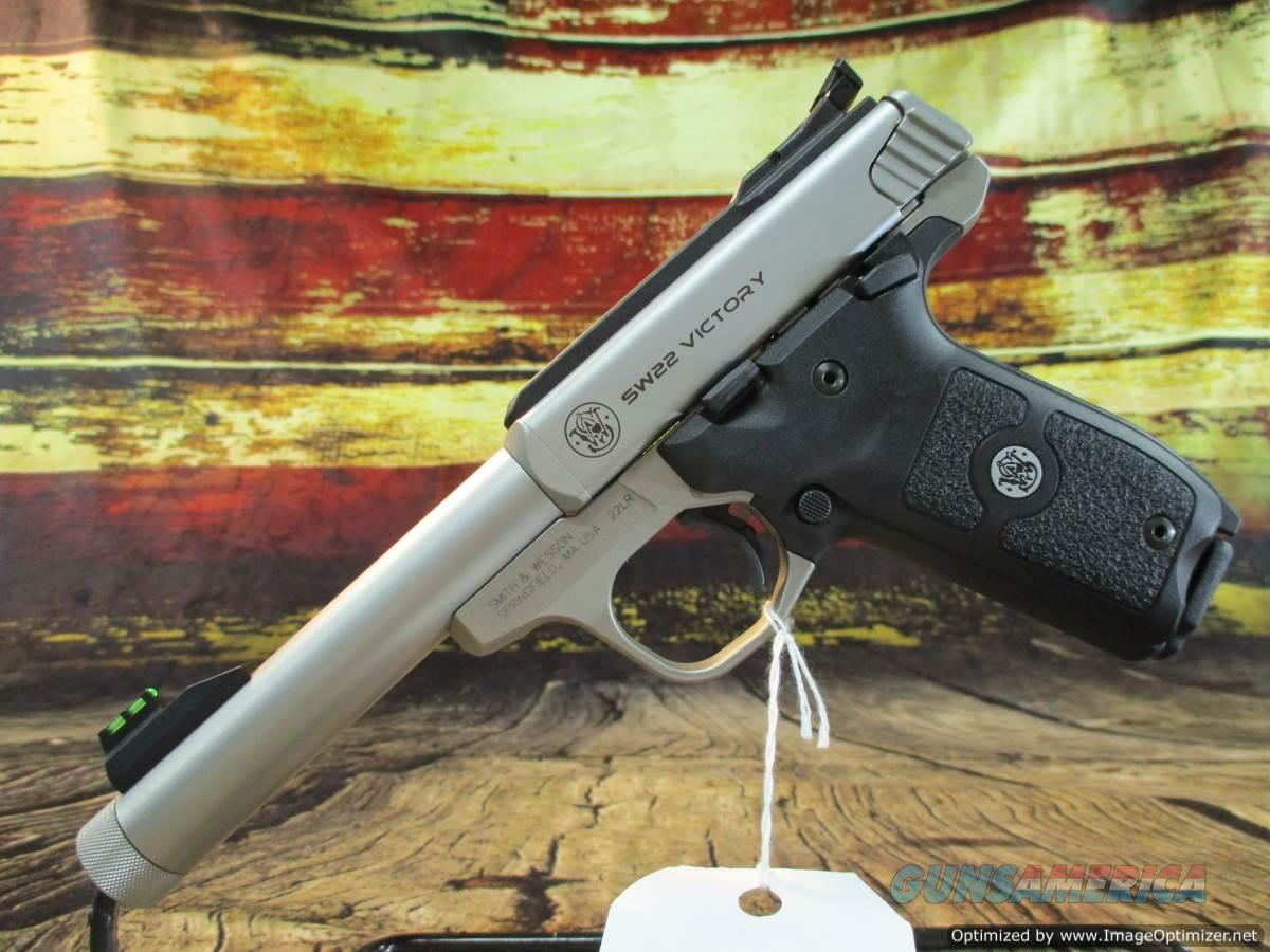 """Smith & Wesson 22 LR Victory Stainless 5.5"""" Threaded New (10201)   Guns > Pistols > Smith & Wesson Pistols - Autos > Steel Frame"""