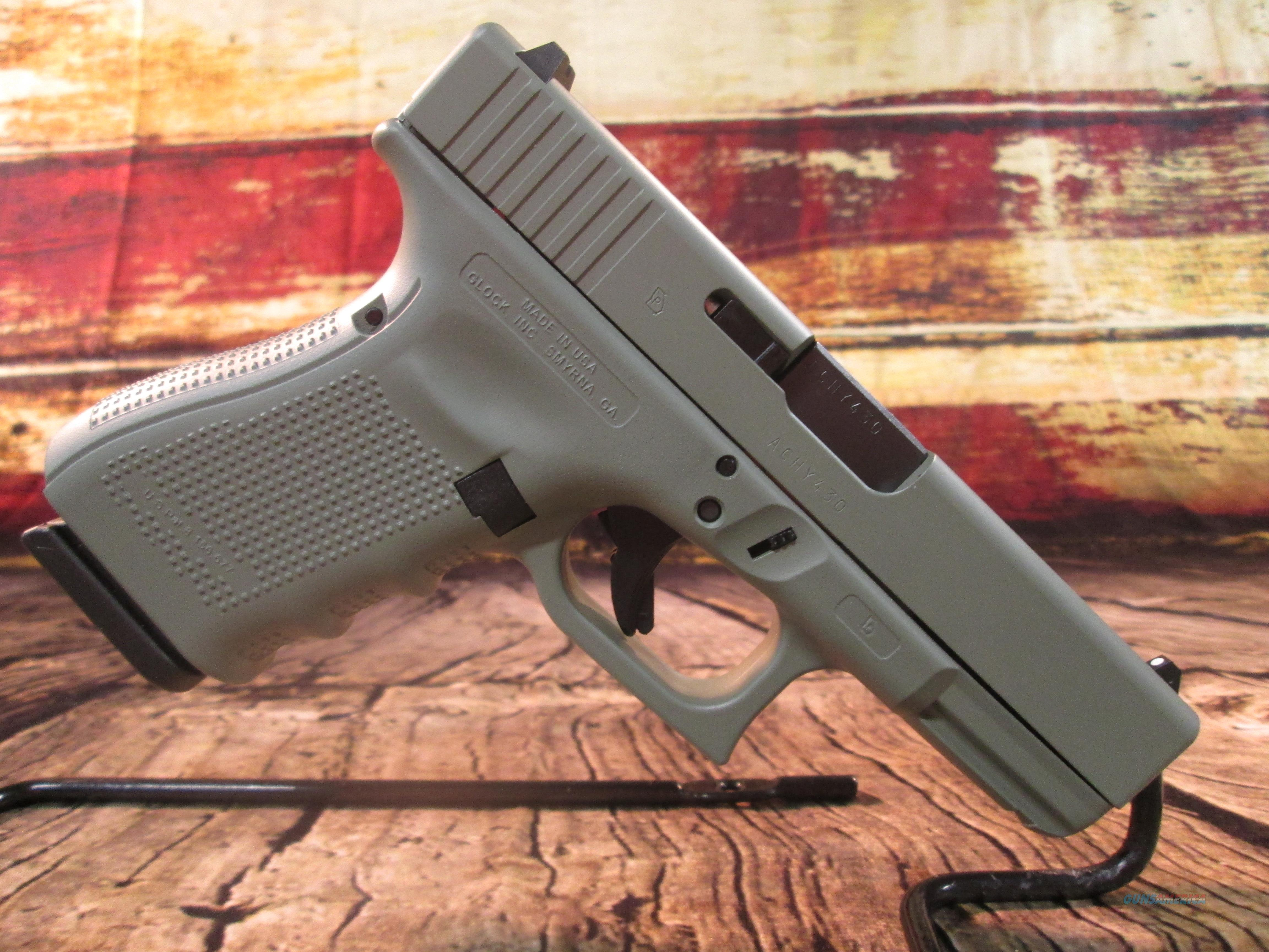 "GLOCK 19 GEN 4 9MM ""JUNGLE GREEN"" NEW (UG1950203EJ)  Guns > Pistols > Glock Pistols > 19"