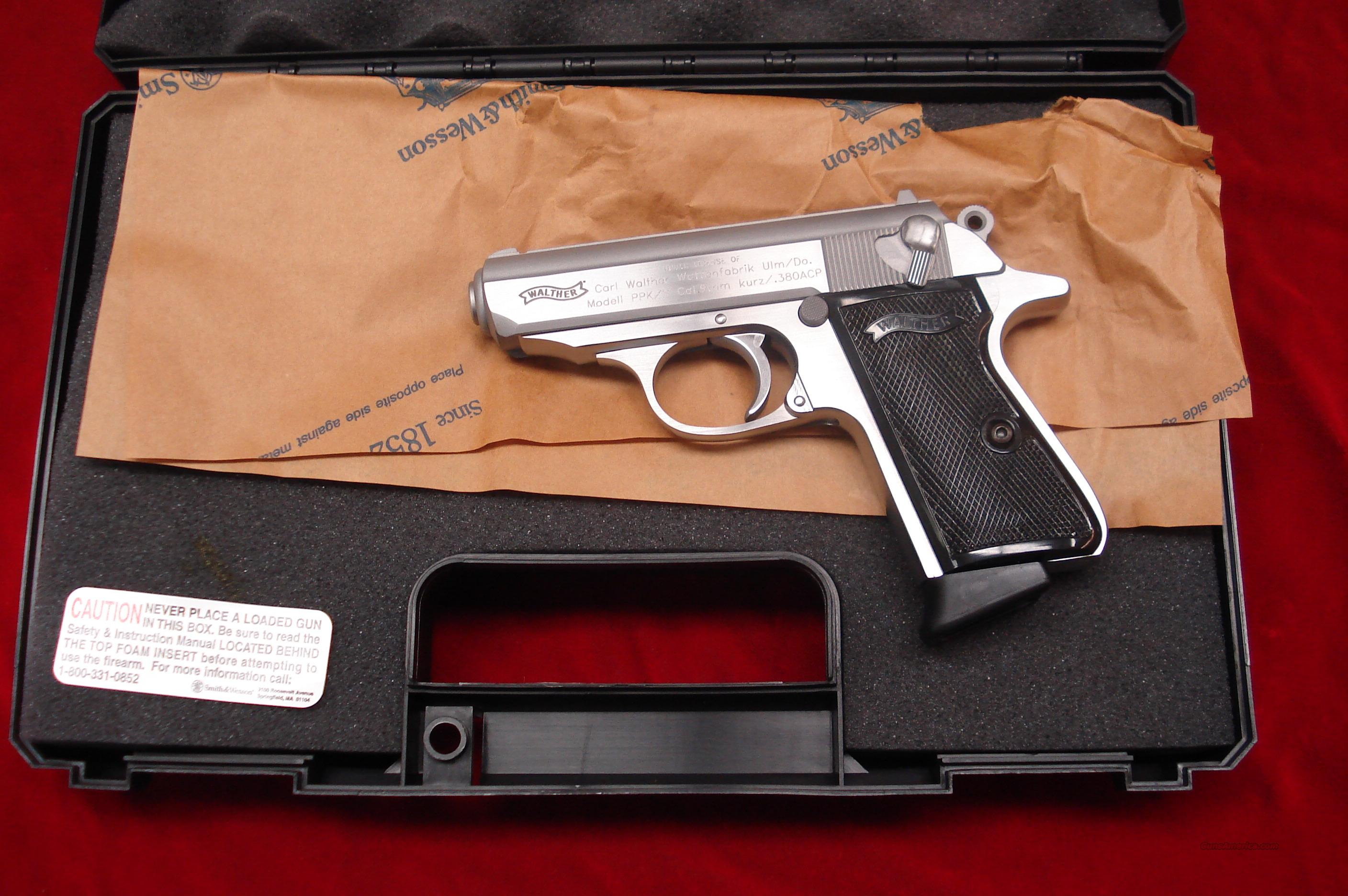 walther ppk s 380 cal stainless new for sale rh gunsamerica com Walther PPK 380 Silencer German Walther PPK 380