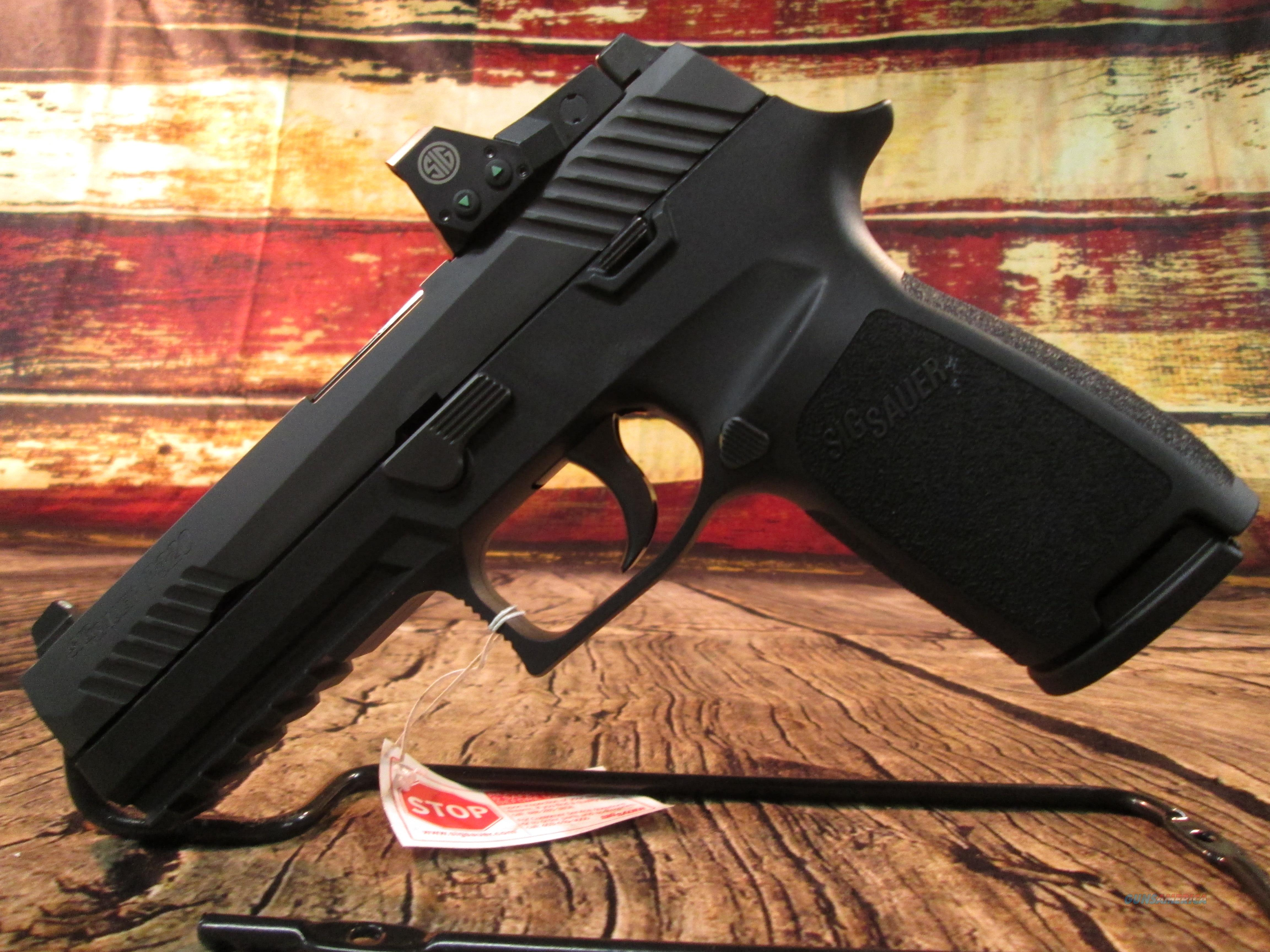 SIG SAUER P320 FULL SIZE 9MM W/ ROMEO 1 RED DOT SIGHT NEW (320F-9-BSS-RX)  Guns > Pistols > Sig - Sauer/Sigarms Pistols > P320