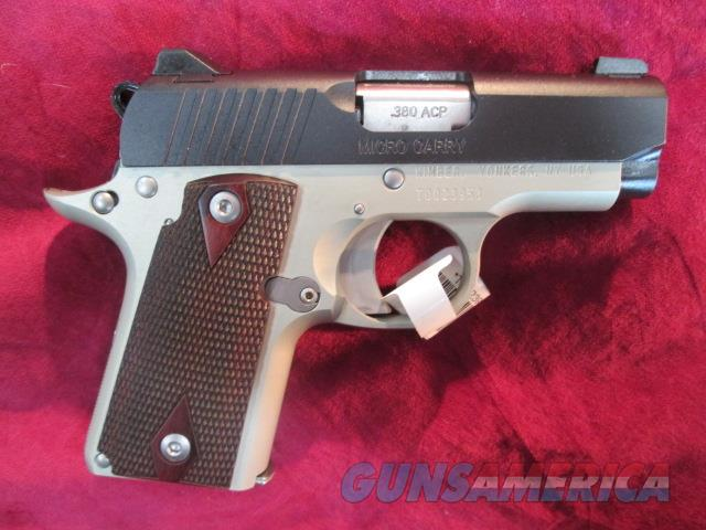 KIMBER MICRO 380 ROSEWOOD TWO TONE NEW  (3300102)  Guns > Pistols > Kimber of America Pistols