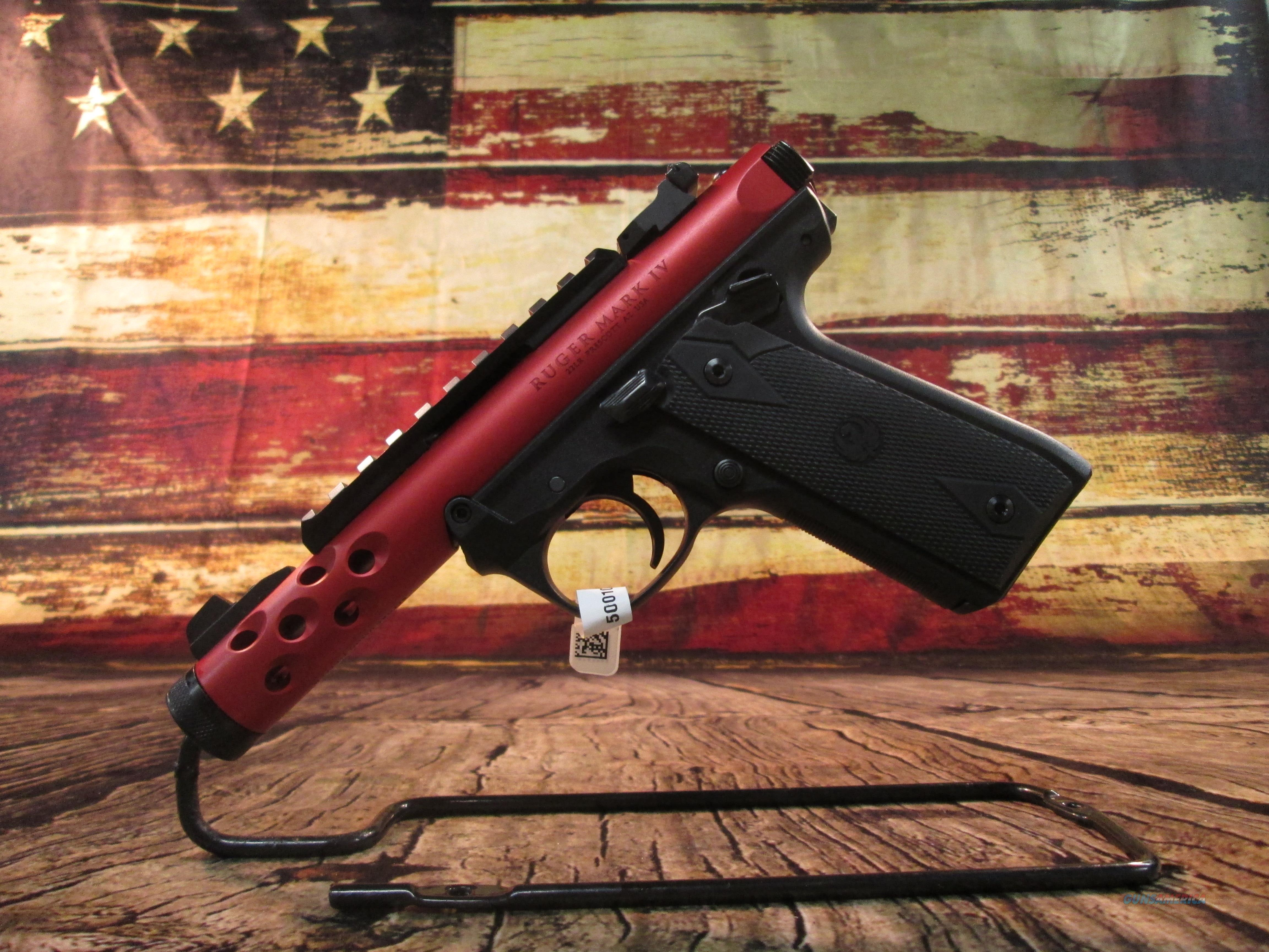 RUGER MKIV 22/45 LITE ANODIZED RED (43910) ***POST RECALL****  Guns > Pistols > Ruger Semi-Auto Pistols > 22/45