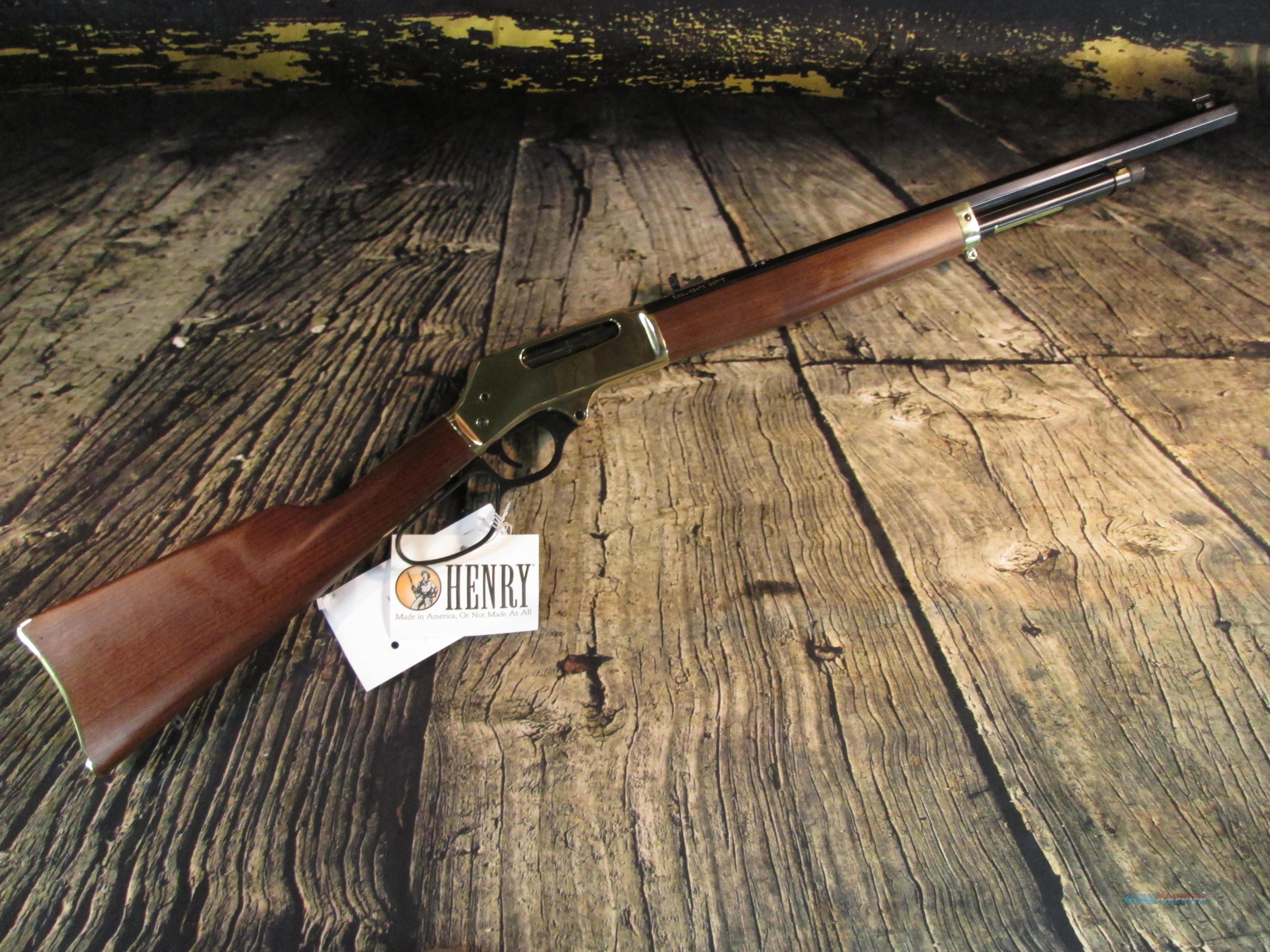 """Henry 45-70 Gov'T Brass Lever Action 22"""" Large Loop New (H010B)  Guns > Rifles > Henry Rifle Company"""