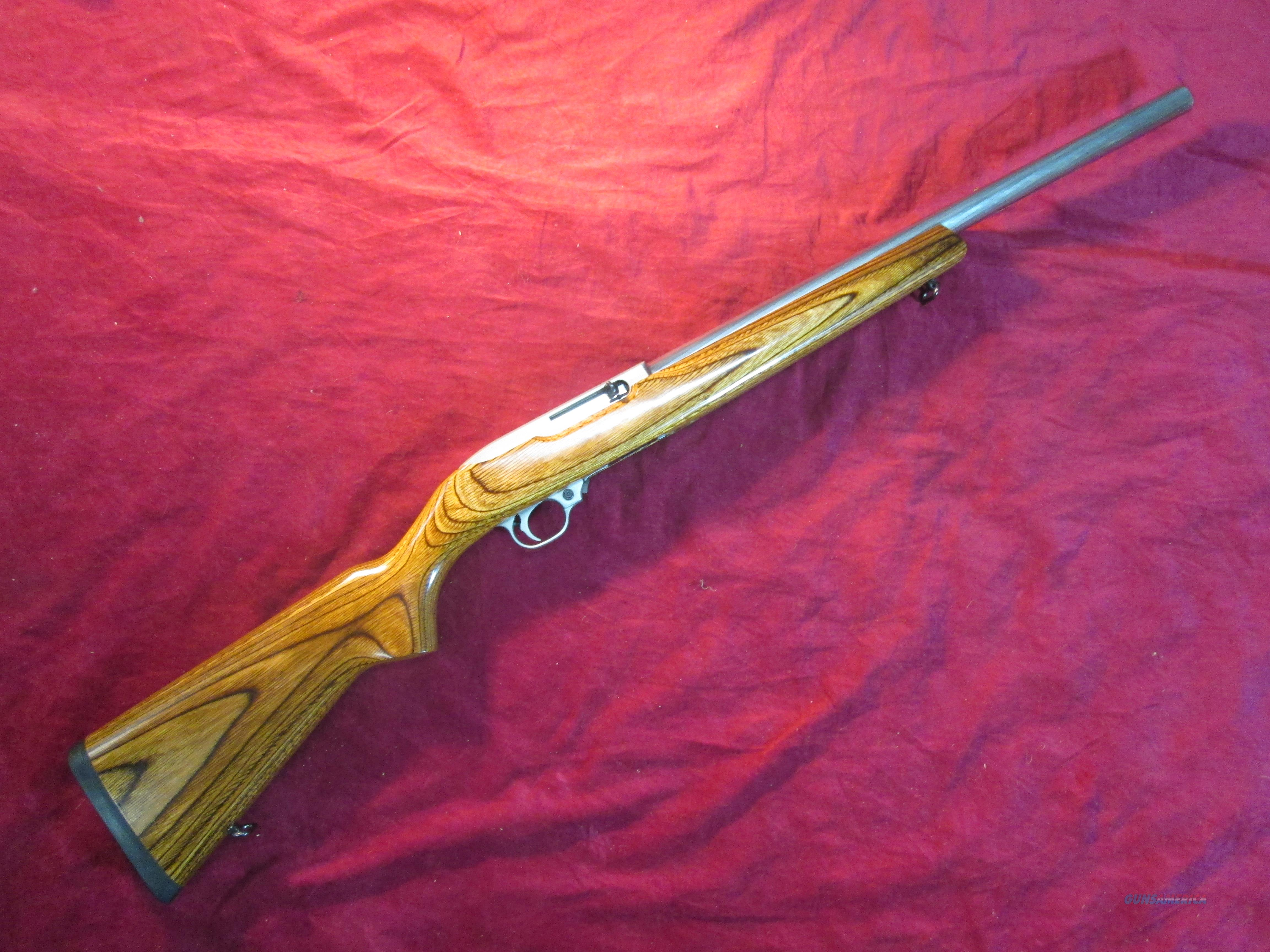 RUGER 10/22 TARGET STAINLESS W/ BROWN LAMINATE STOCK USED  Guns > Rifles > Ruger Rifles > 10-22