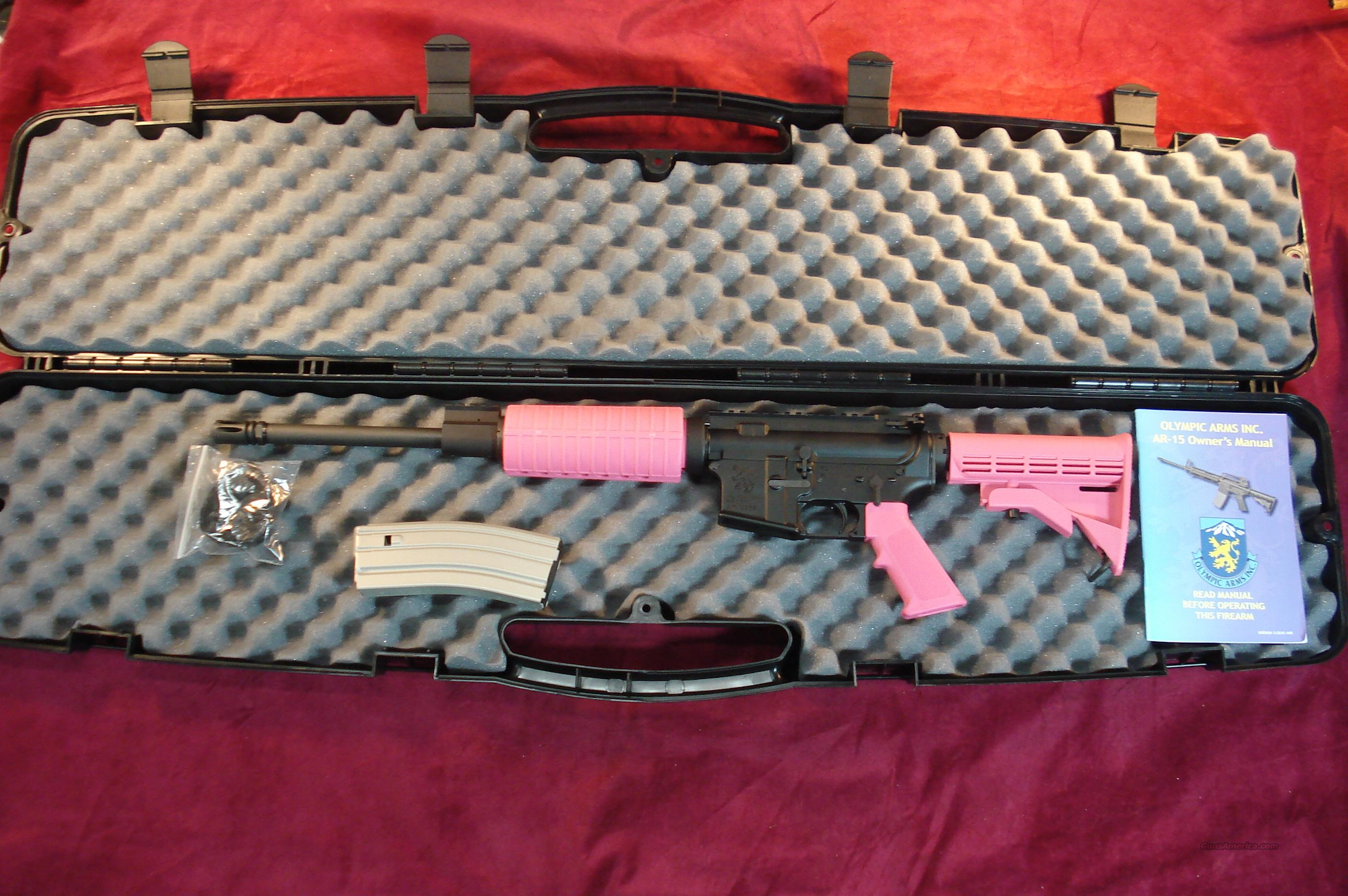 OLYMPIC ARMS PLINKER PLUS PINK AR15 223 CAL NEW... for sale