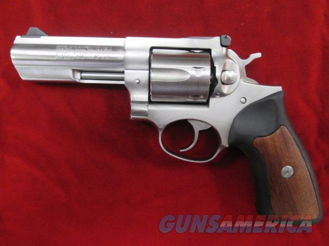 "RUGER GP100 357 MAG 4"" STAINLESS W/ WOOD AND RUBBER GRIPS USED  Guns > Pistols > Ruger Double Action Revolver > Security Six Type"