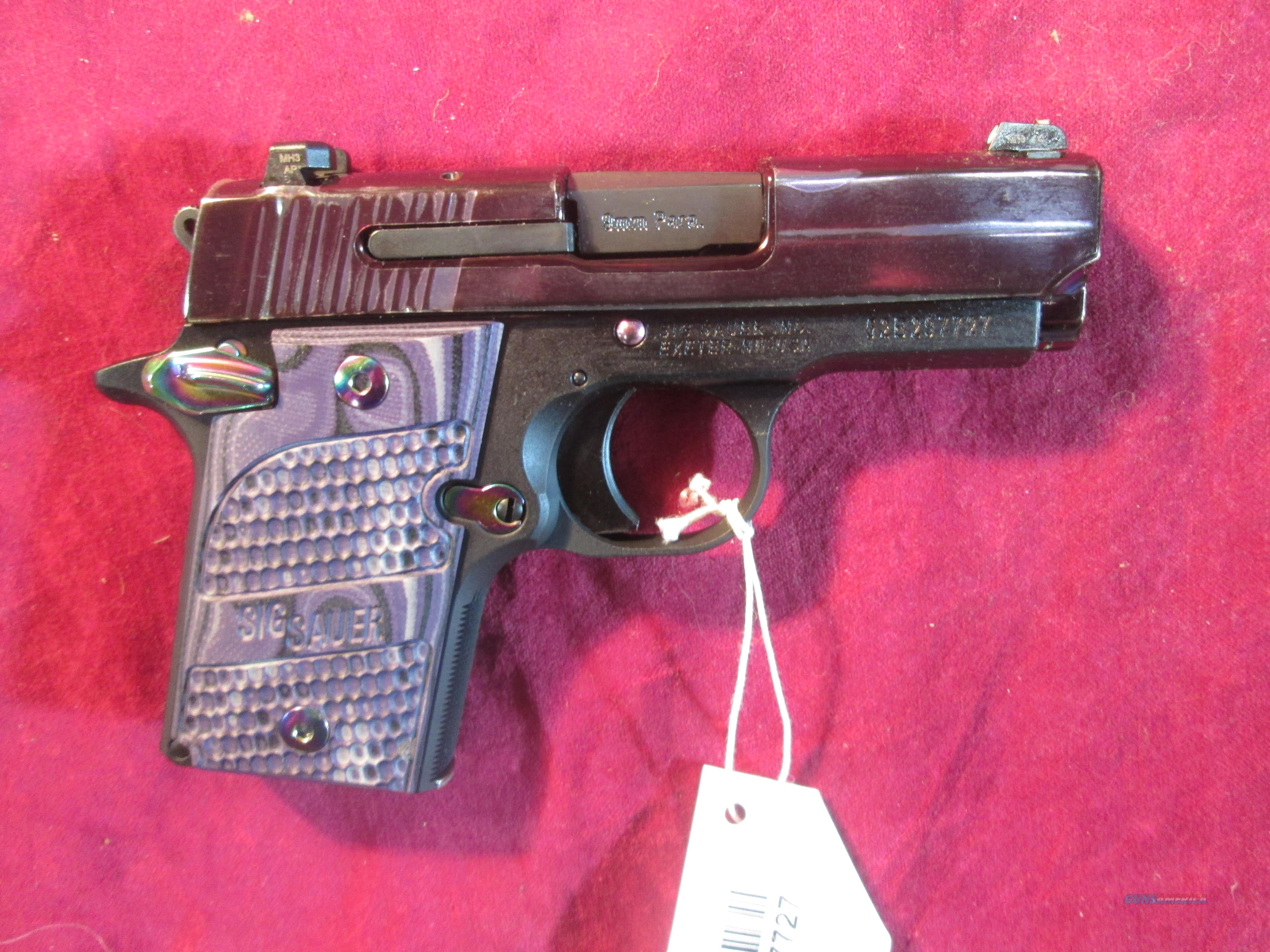 SIG SAUER 938 9MM PURPLE TITANIUM W/ NIGHT SIGHTS NEW (938-9-PSP-AMBI)  Guns > Pistols > Sig - Sauer/Sigarms Pistols > P938