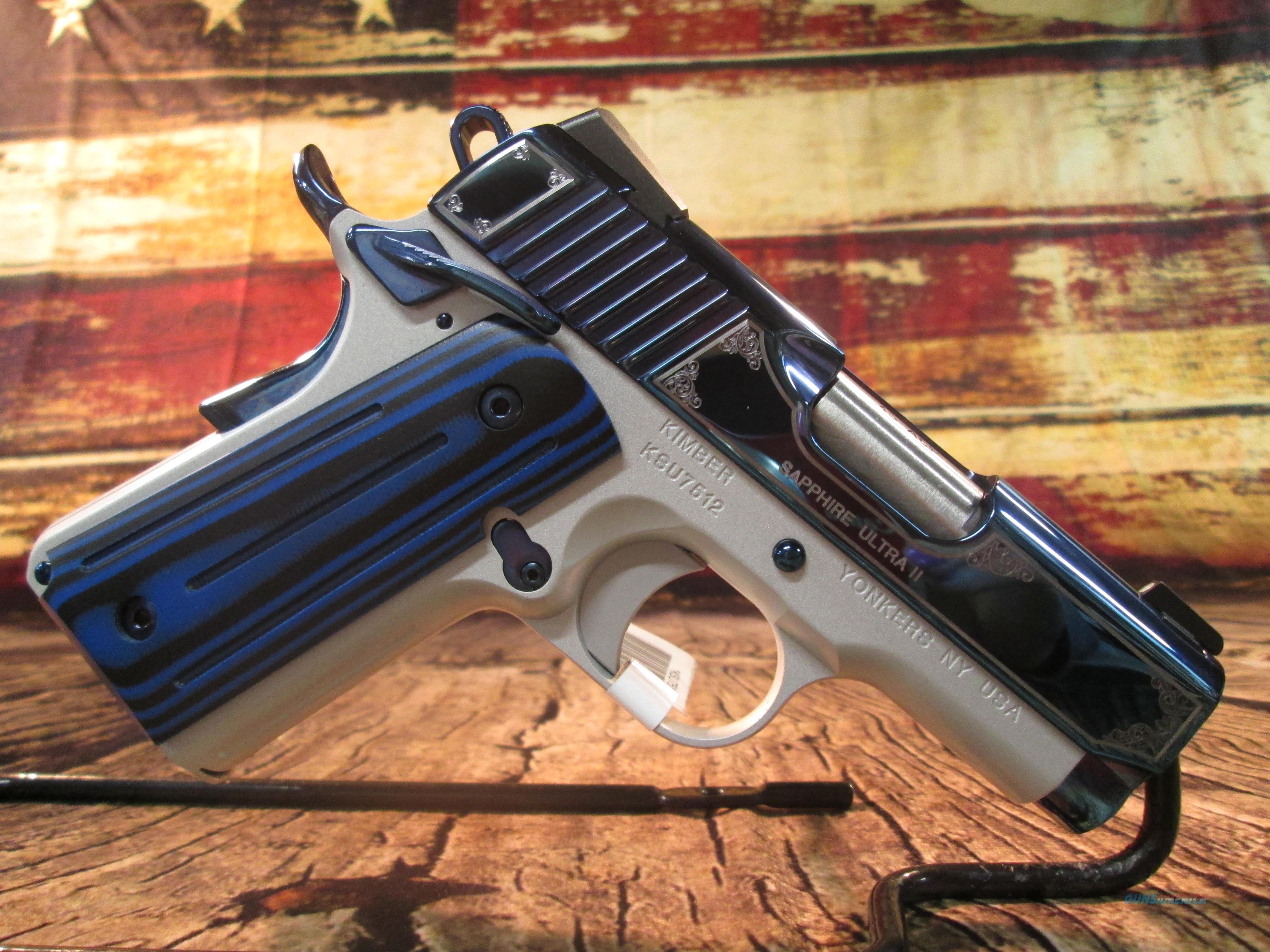KIMBER SAPPHIRE ULTRA II 45ACP NEW (3200362)  Guns > Pistols > Kimber of America Pistols > 1911