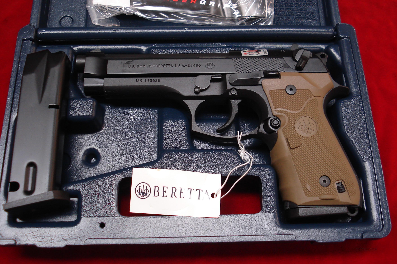 BERETTA M9 COMMERCIAL 9MM W/CRIMSON TRACE LASER GRIPS NEW