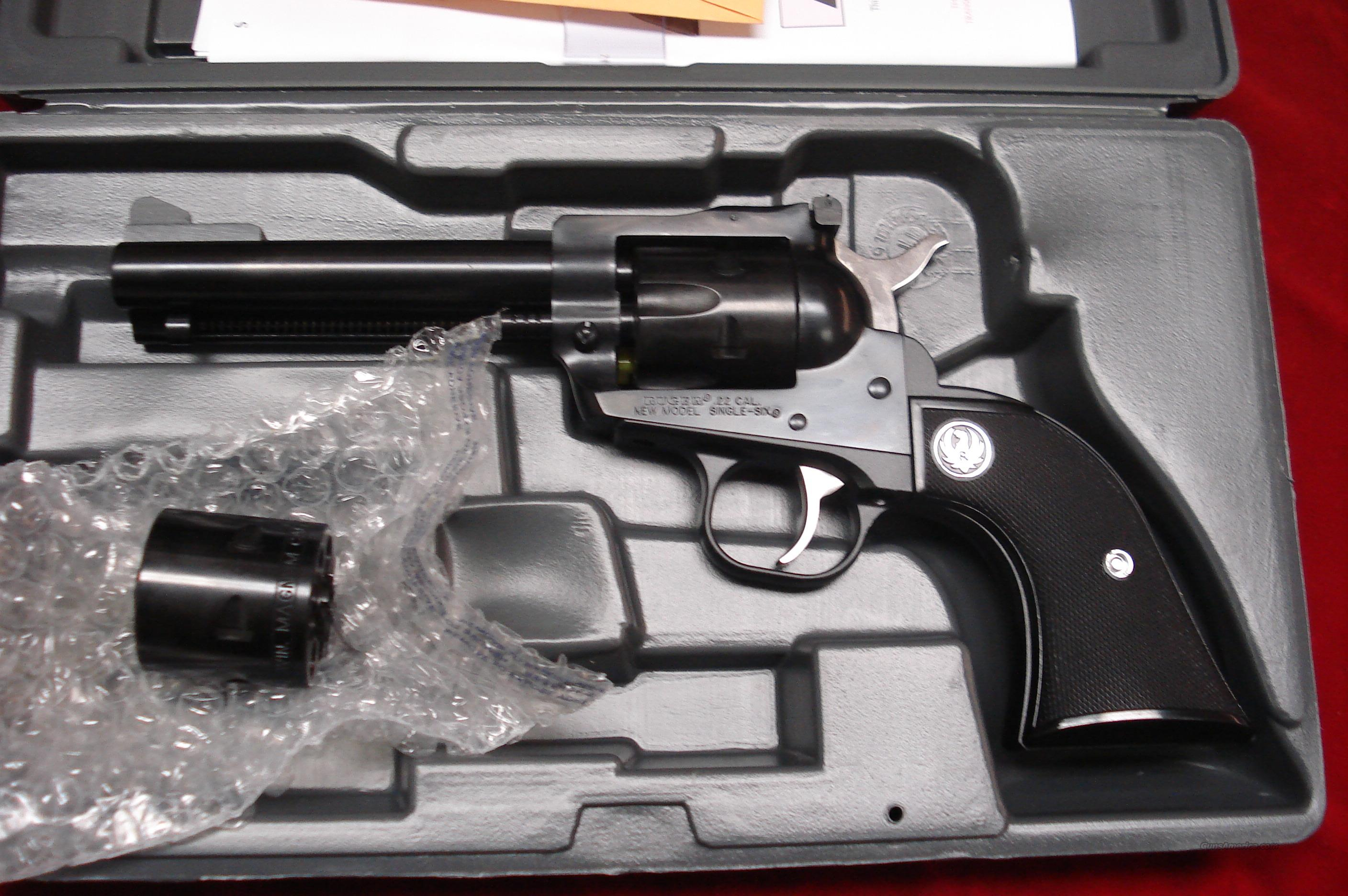 "RUGER SUPER SINGLE-SIX 4 5/8"" BLUE NEW (NR-4)  Guns > Pistols > Ruger Single Action Revolvers > Single Six Type"