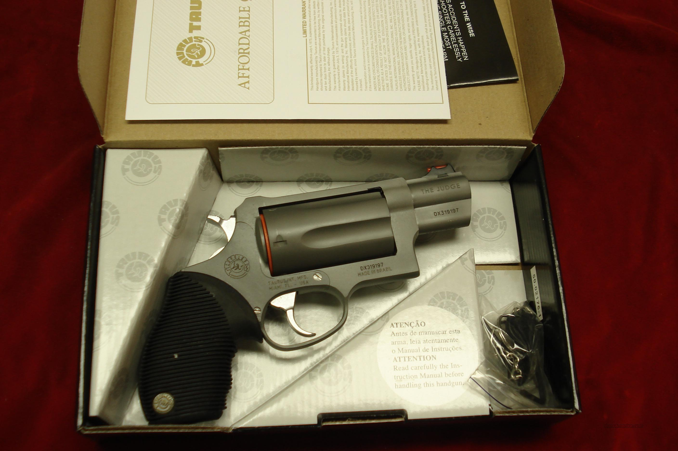 "TAURUS ""THE JUDGE"" 2"" STAINLESS ULTRA-LITE PUBLIC DEFENDER NEW  Guns > Pistols > Taurus Pistols/Revolvers > Revolvers"