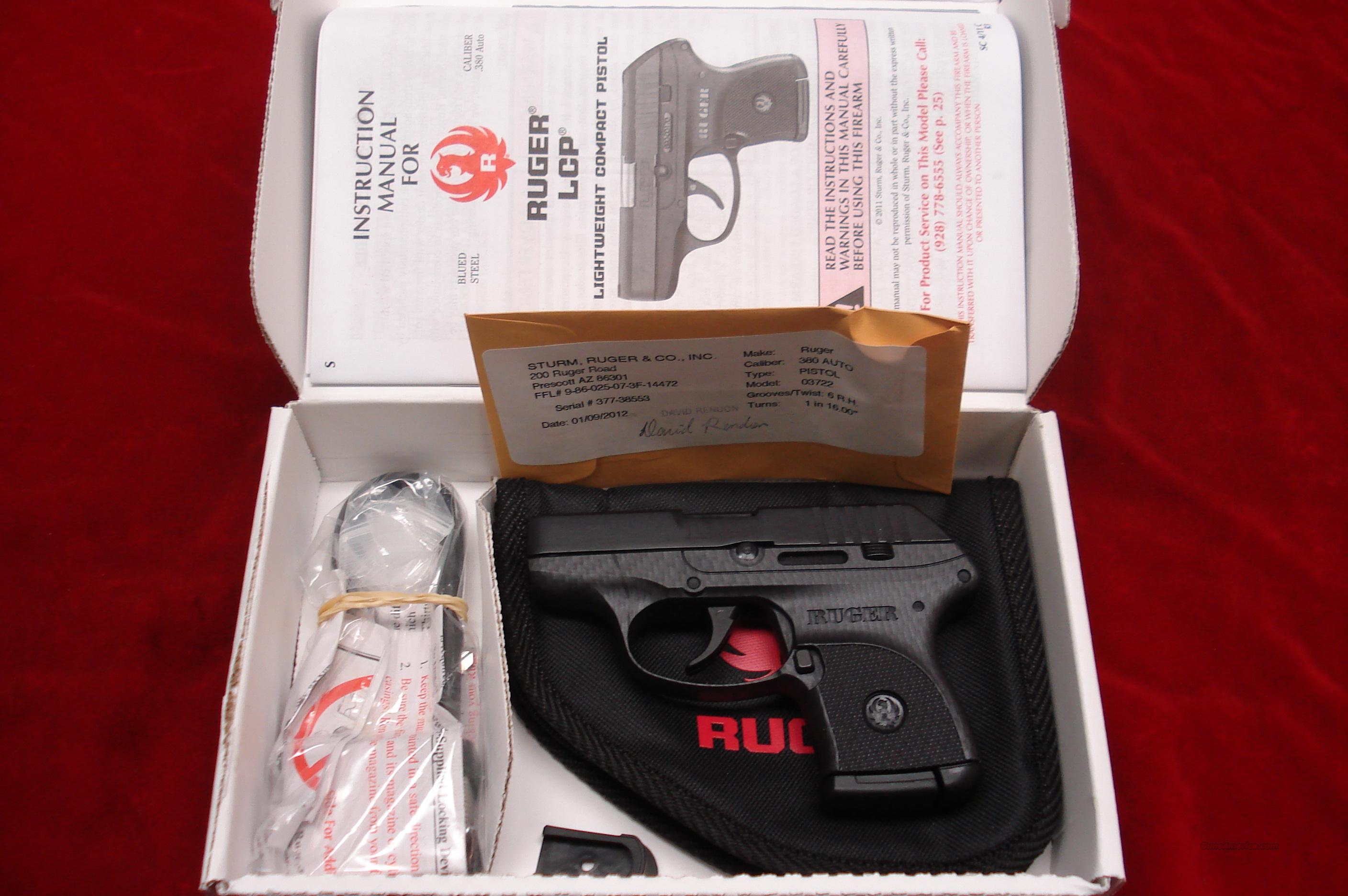 RUGER CARBON FIBER LCP (Lightweight Compact Pistol) 380CAL. NEW  Guns > Pistols > Ruger Semi-Auto Pistols > LCP