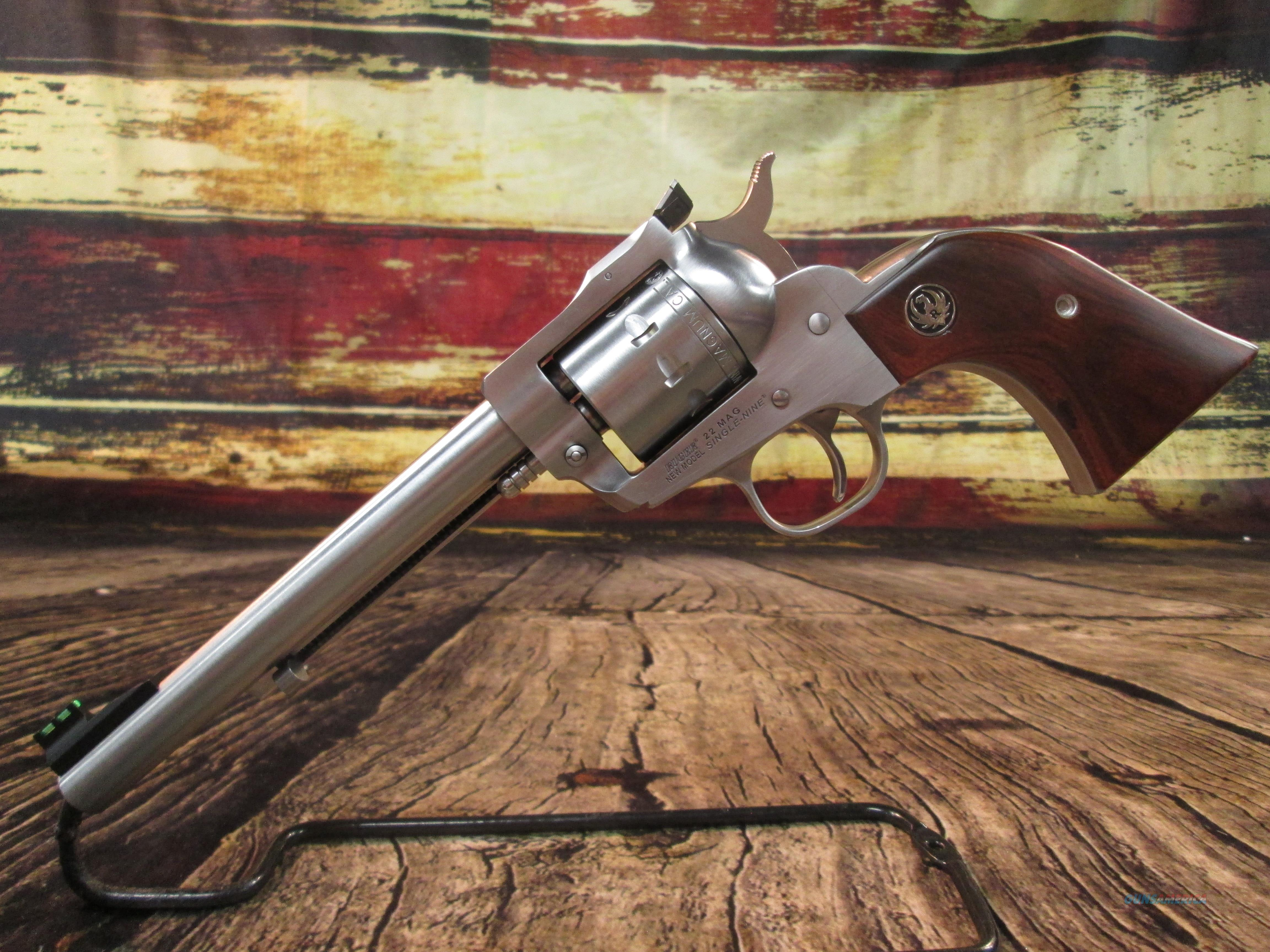 "RUGER SUPER SINGLE-NINE 6.5"" STAINLESS 22MAG. USED (64252)  Guns > Pistols > Ruger Single Action Revolvers > Single Six Type"