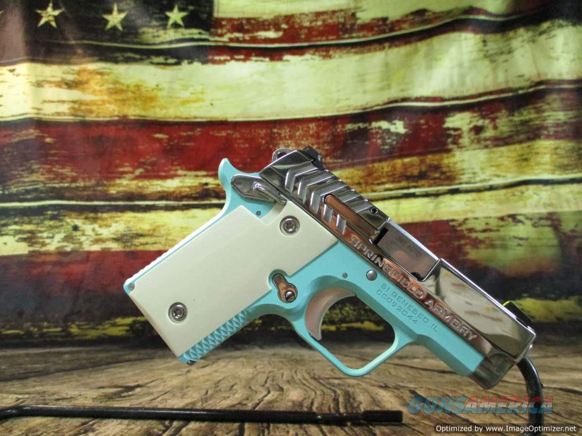 Springfield Armory 380 ACP Vintage Blue 911 w/ Night Sights New (PG9109VBS)  Guns > Pistols > Springfield Armory Pistols > 911